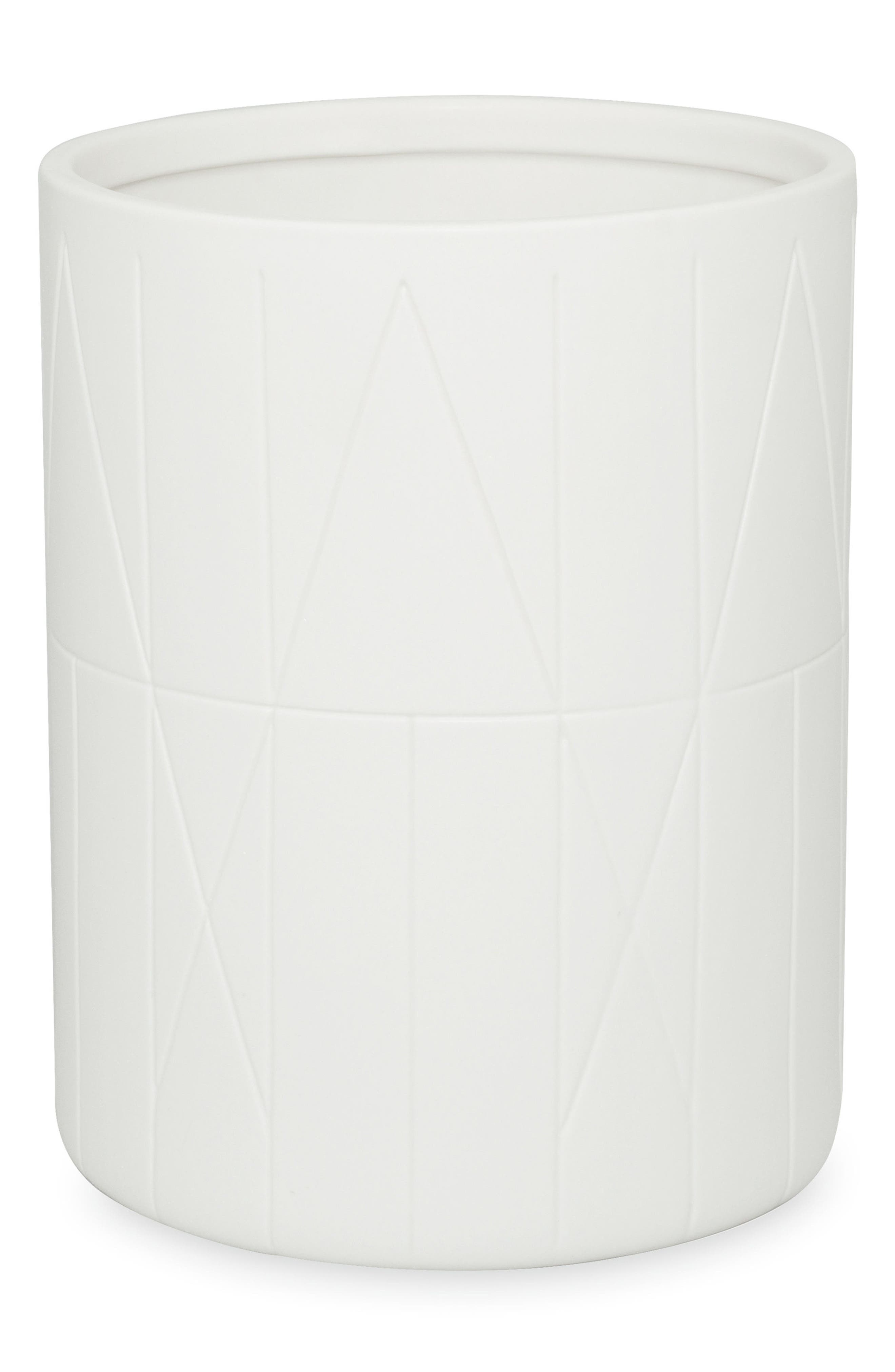 Geometrix Waste Basket,                             Main thumbnail 1, color,                             White