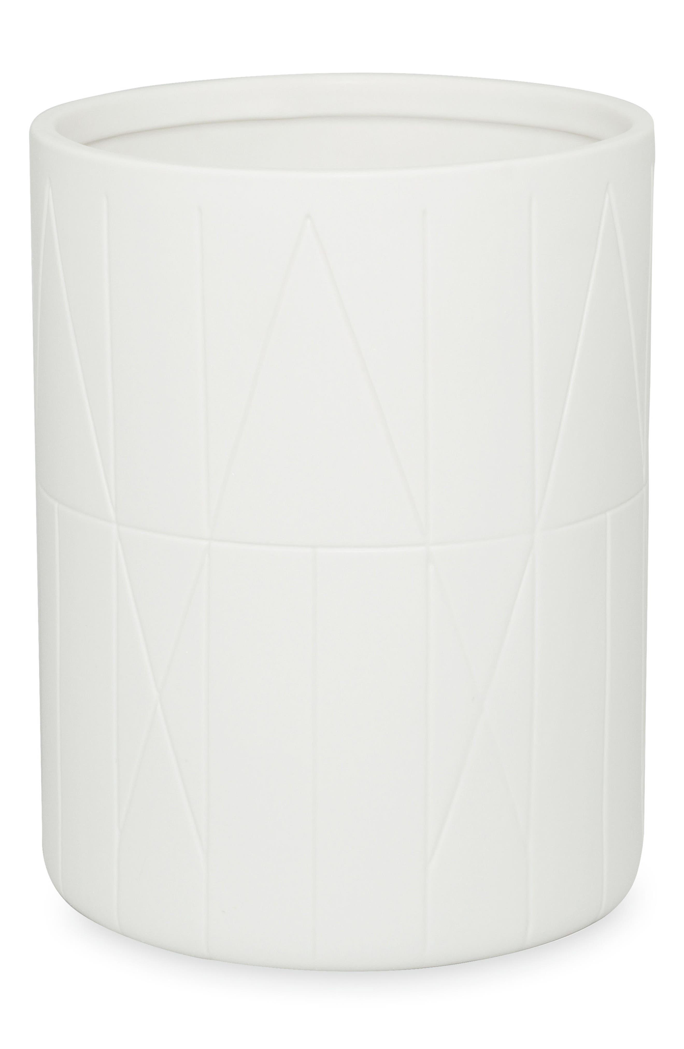Geometrix Waste Basket,                         Main,                         color, White