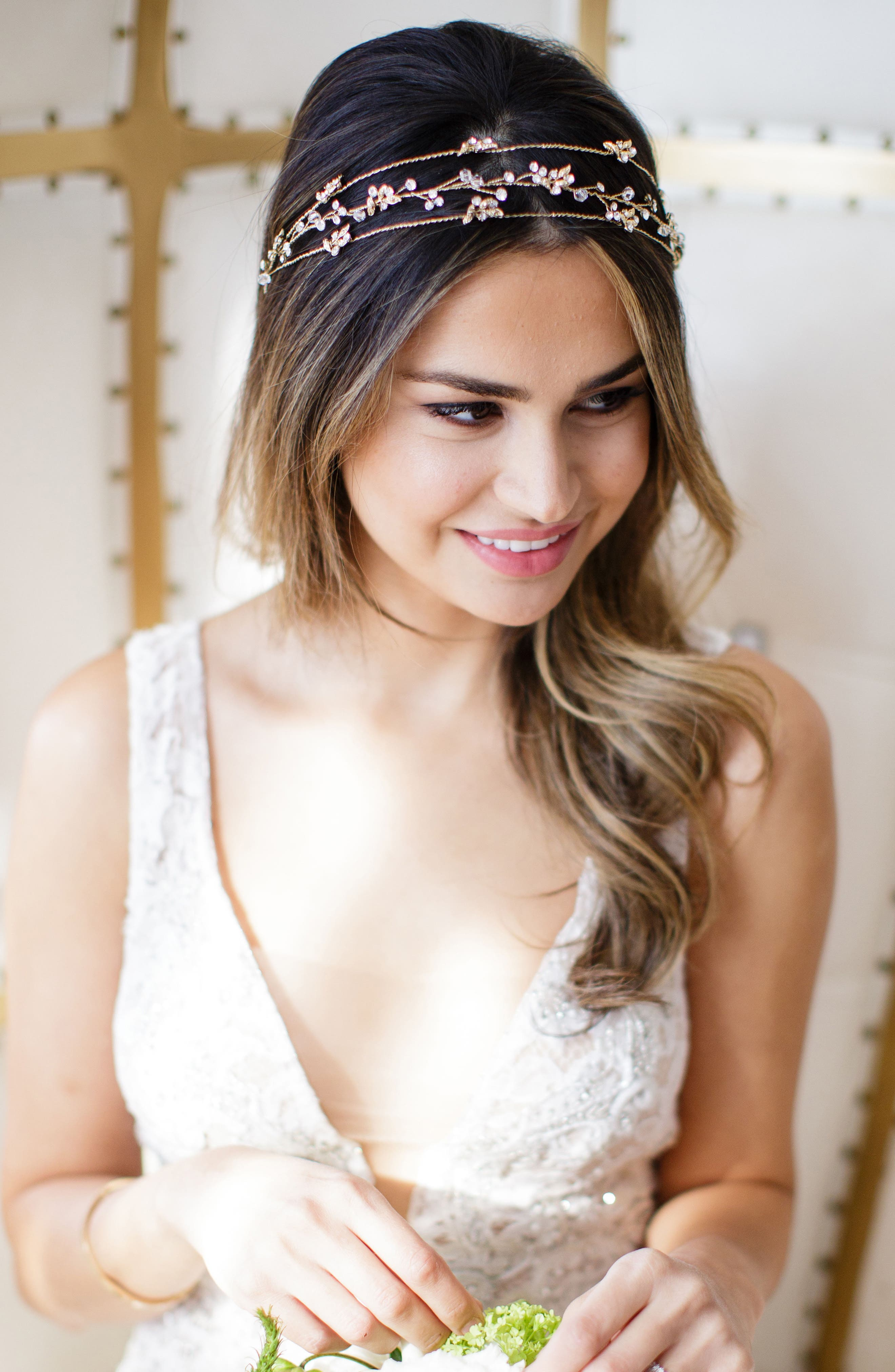 BRIDES & HAIRPINS Rosa Crystal Halo