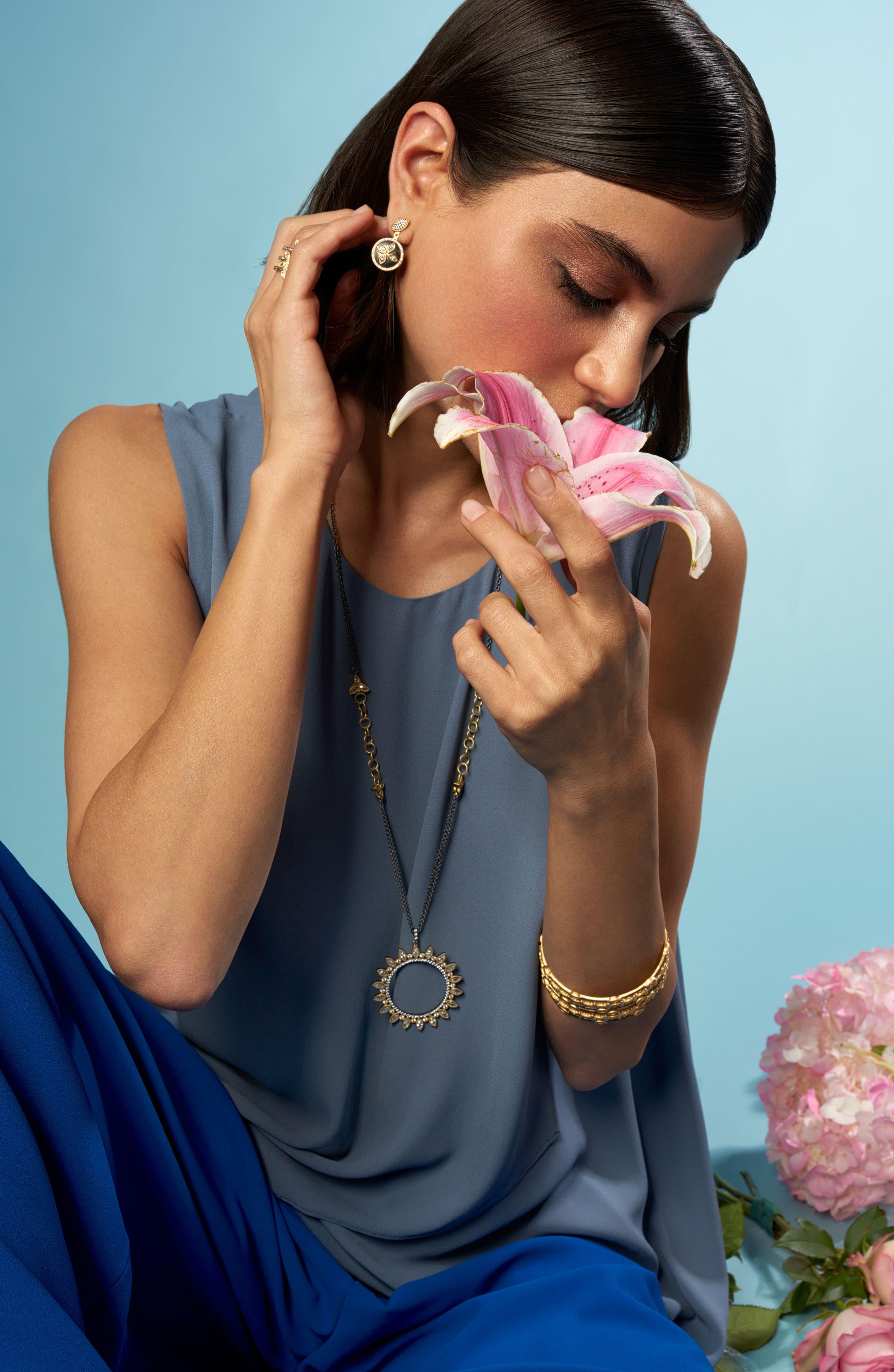 Alternate Image 3  - FREIDA ROTHMAN Fleur Bloom Drop Back Earrings