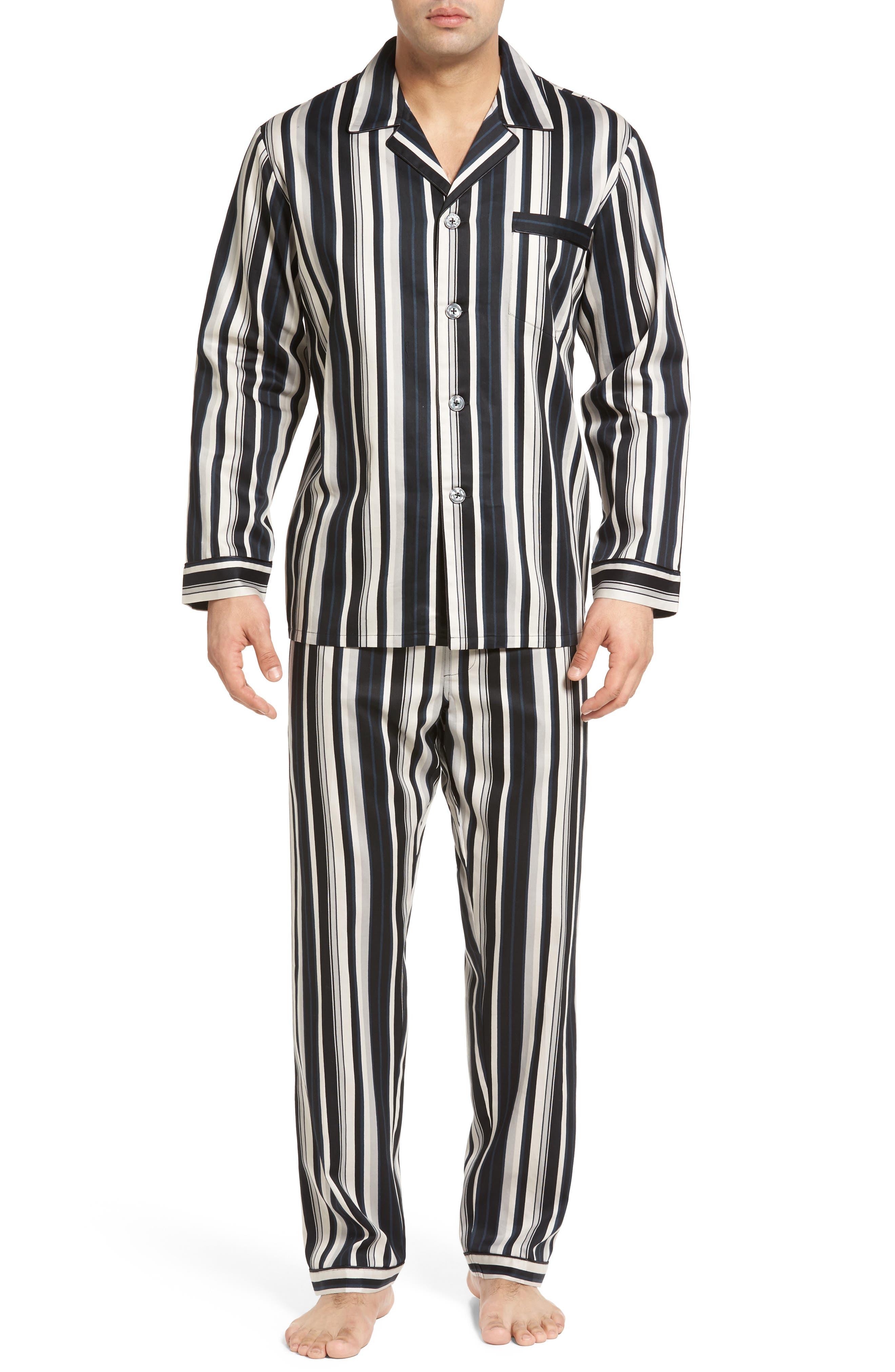 Winslow Pajama Set,                         Main,                         color, Black Stripe