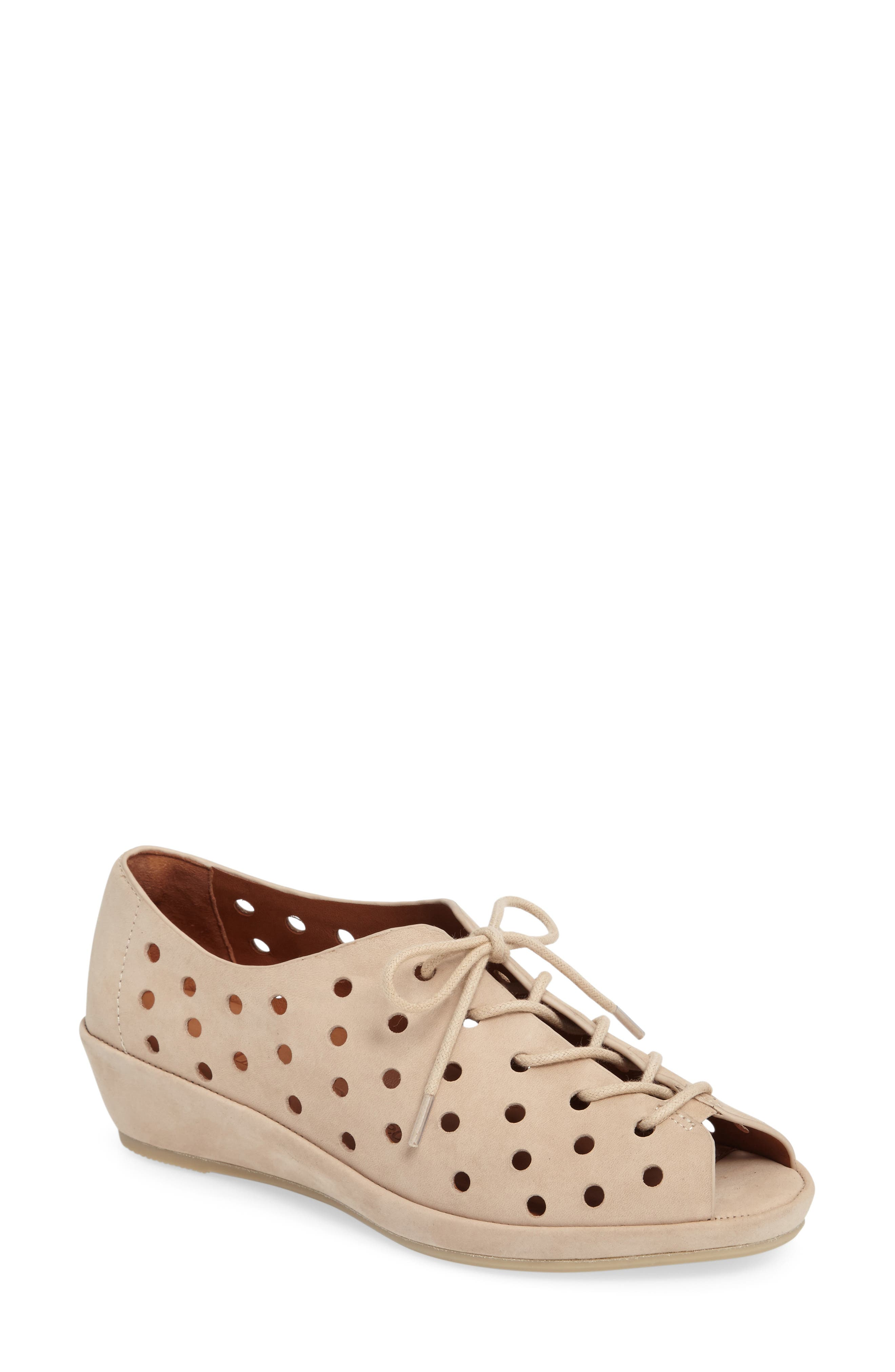 Alternate Image 1 Selected - L'Amour des Pieds Boccoo Perforated Lace-Up Oxford (Women)