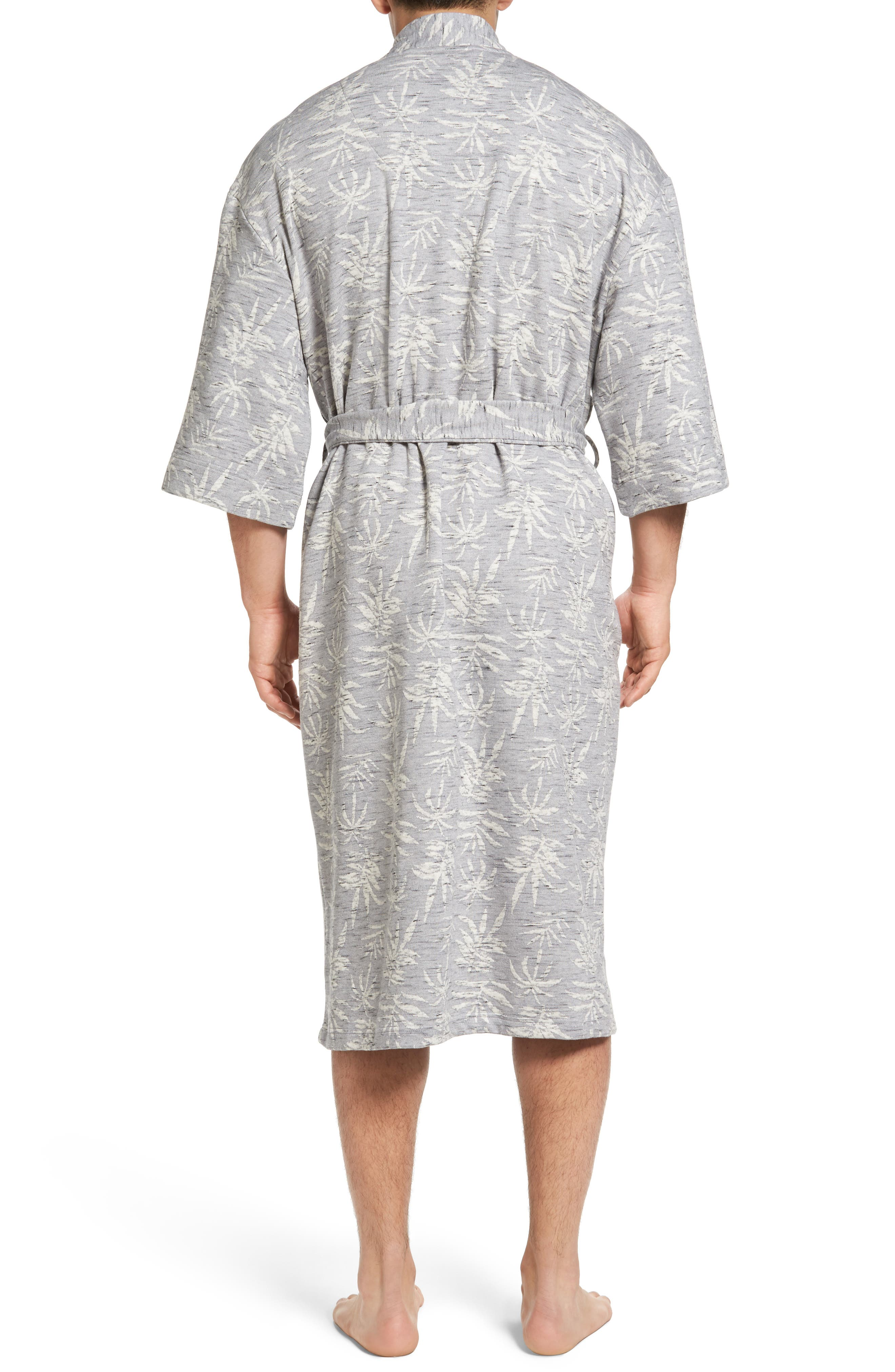 Vintage Tropical Robe,                             Alternate thumbnail 2, color,                             Grey