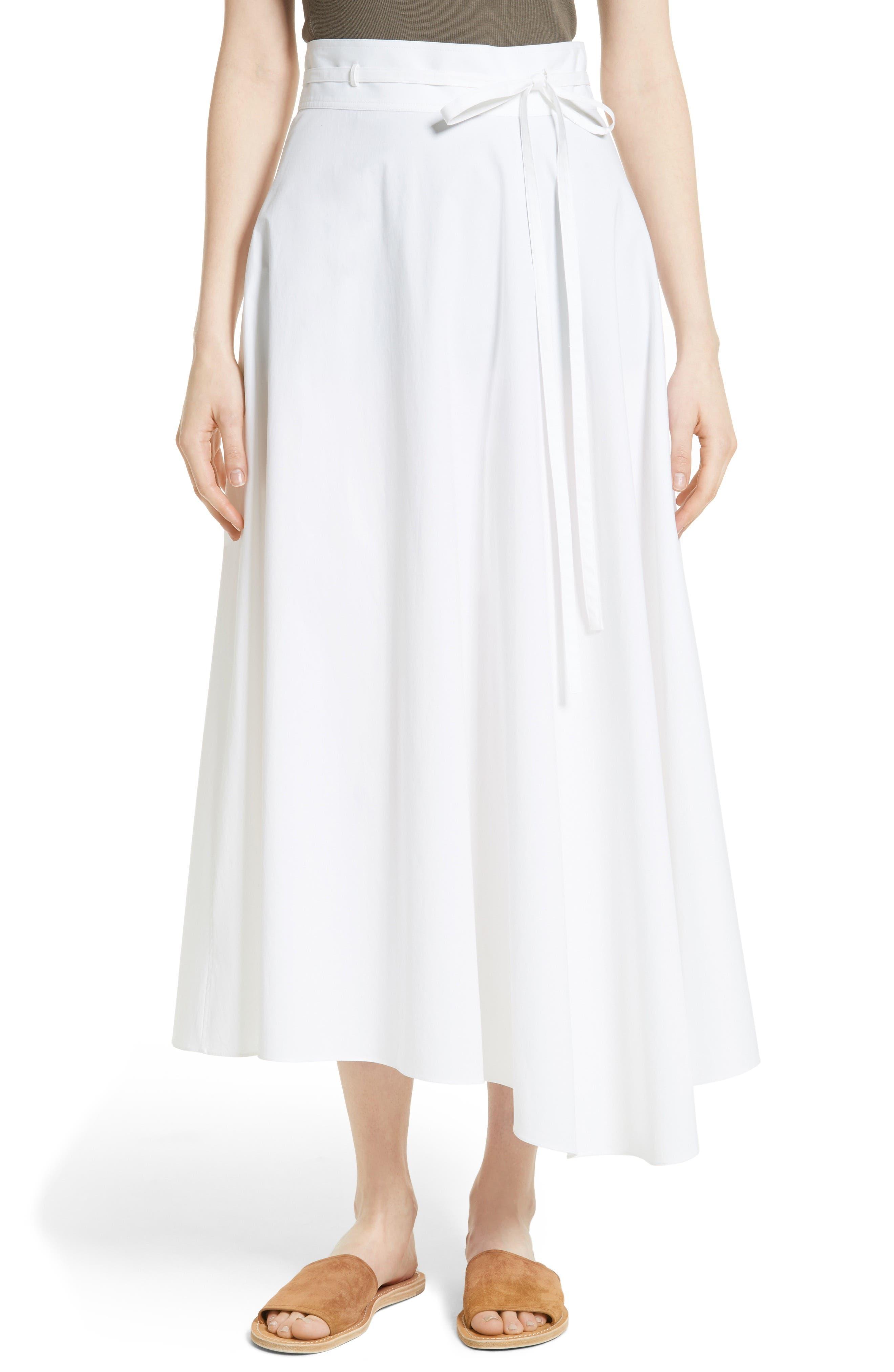 Theory Jaberdina Poplin Midi Skirt