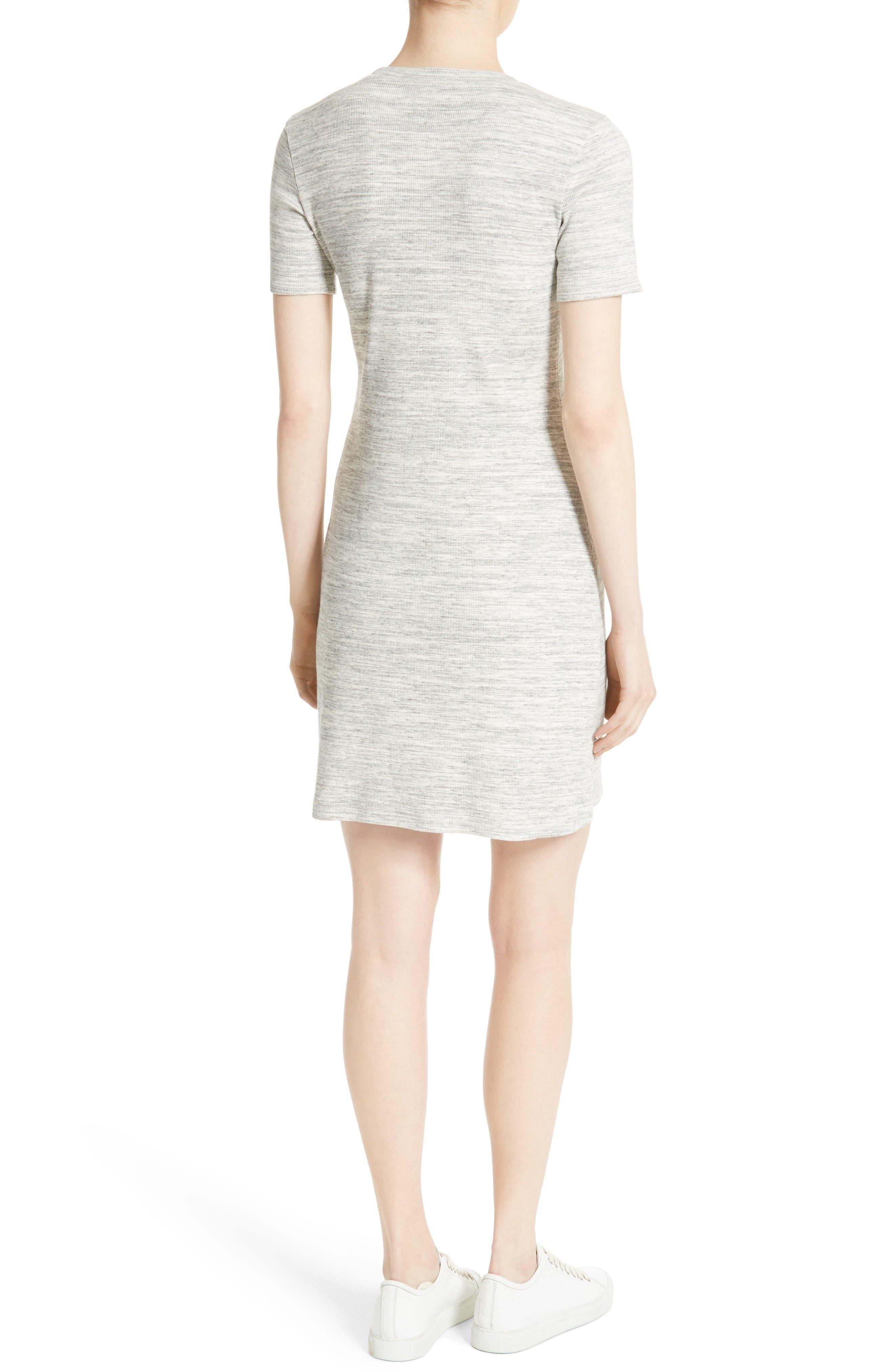 Alternate Image 2  - Theory Cherry B3 Sterling Rib Knit T-Shirt Dress