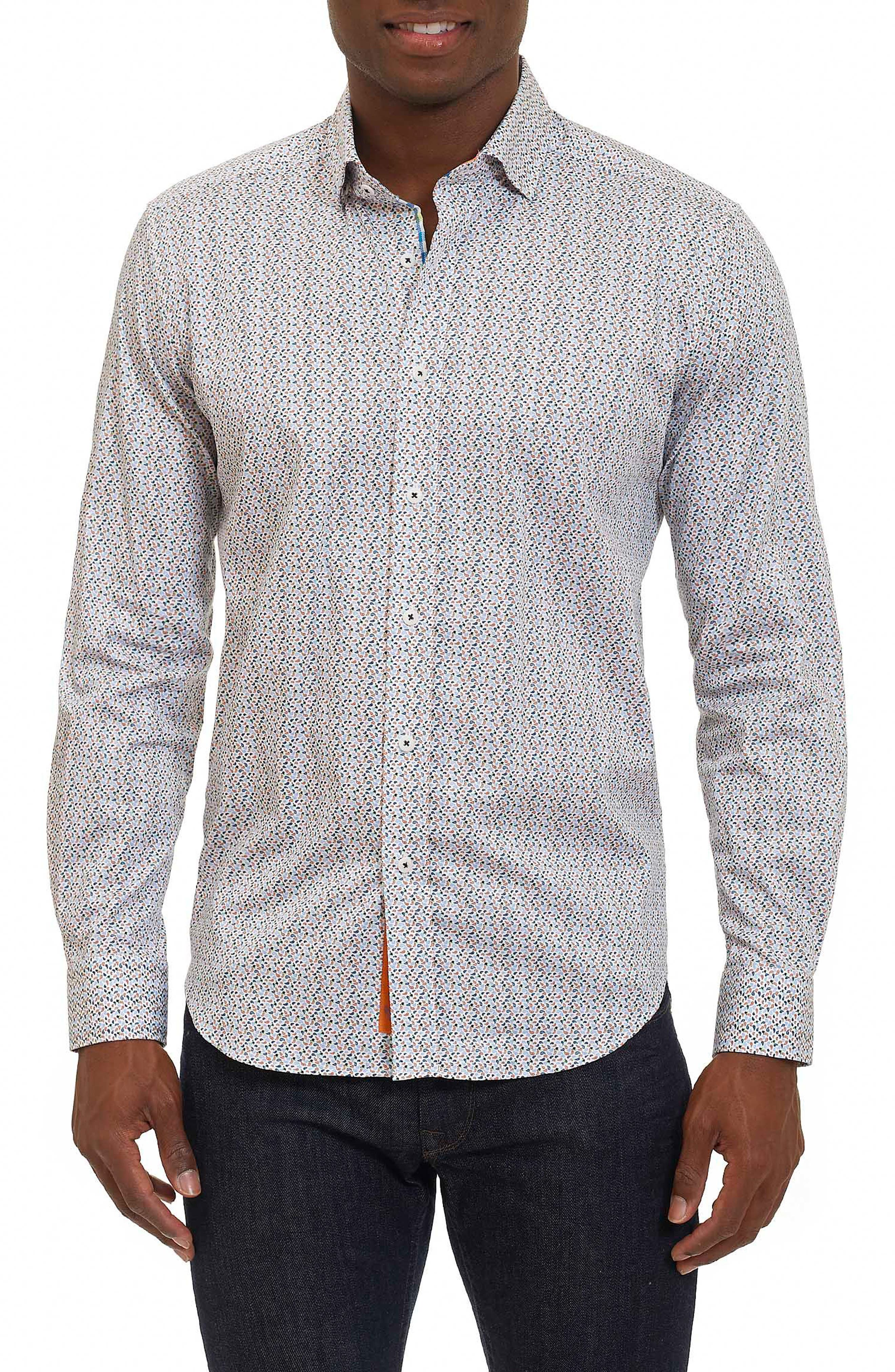 Phillip Print Sport Shirt,                         Main,                         color, Blue