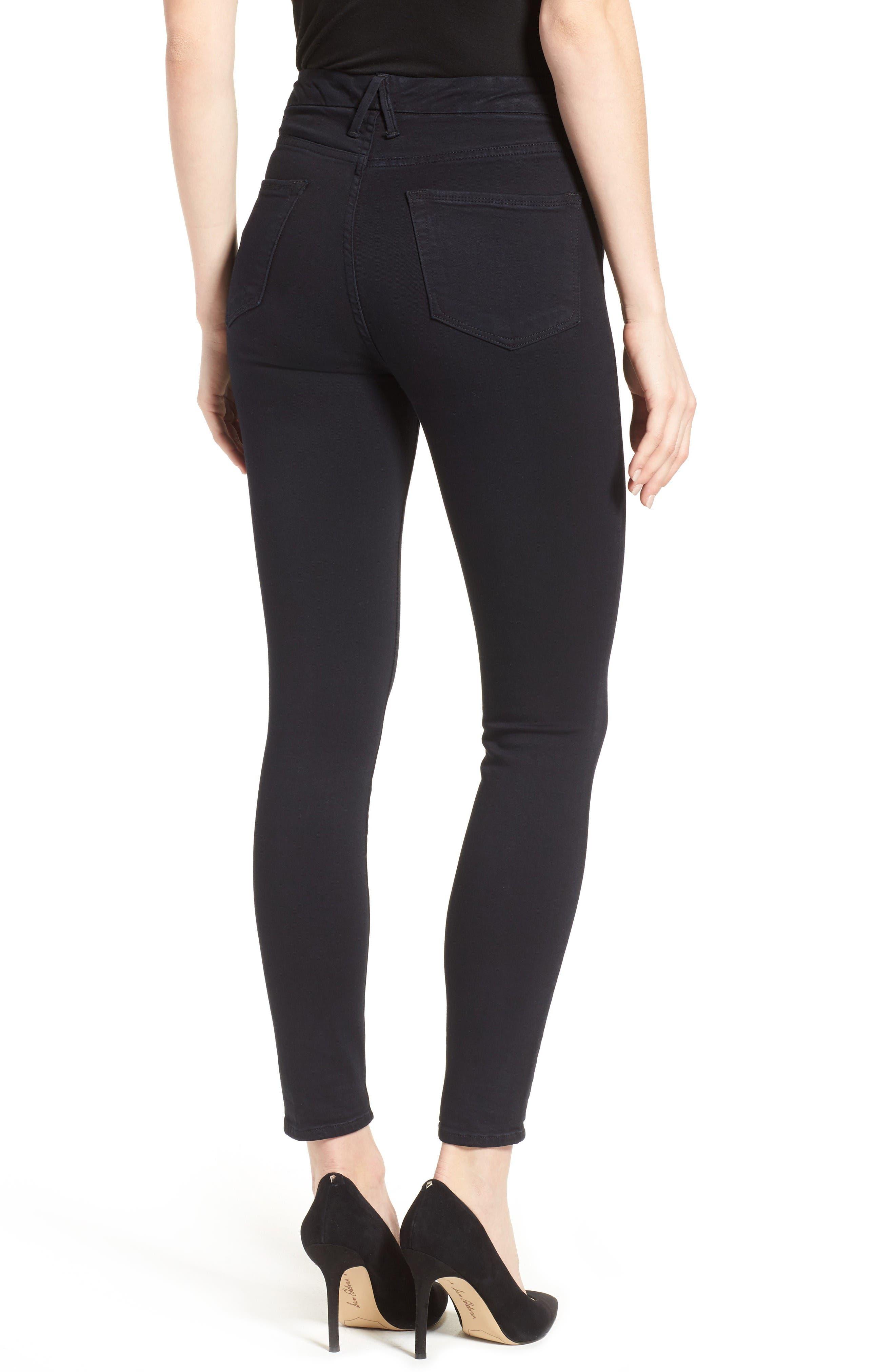 Alternate Image 2  - Good American Good Waist High Rise Skinny Jeans (Black 004)