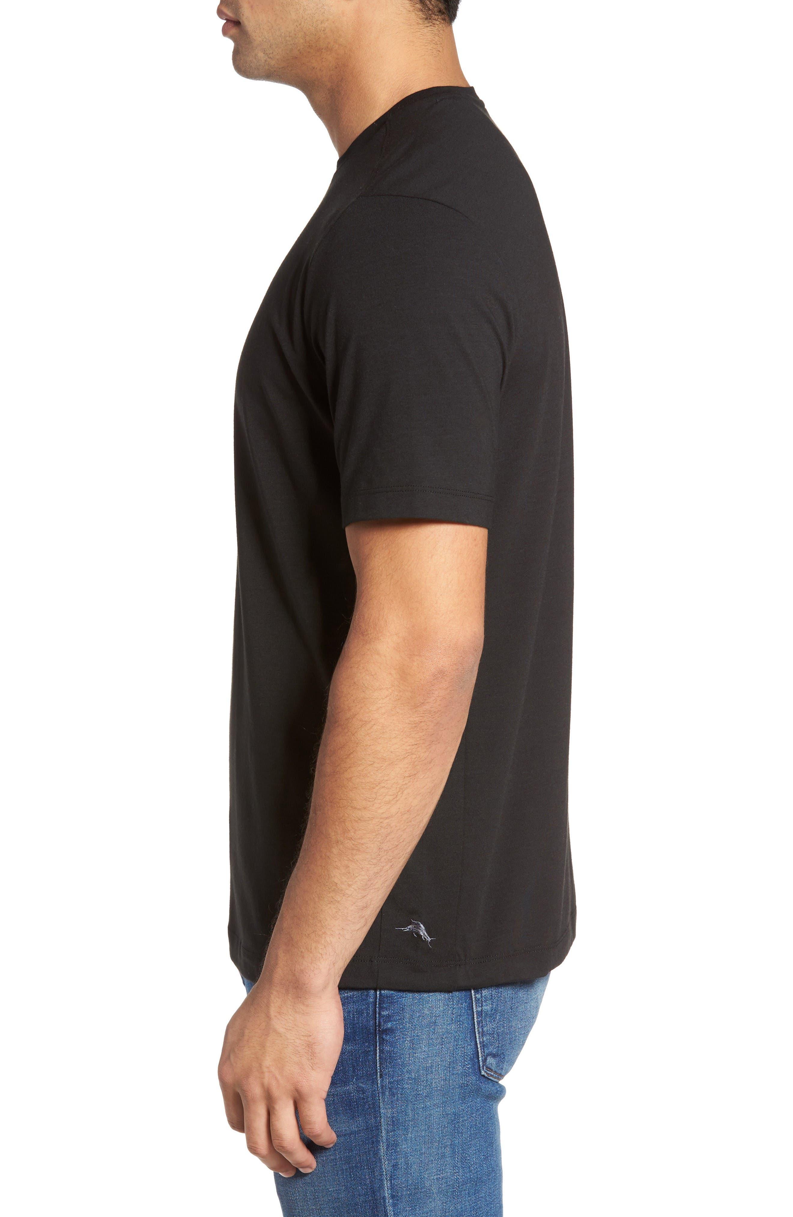 Tropicool T-Shirt,                             Alternate thumbnail 3, color,                             Black