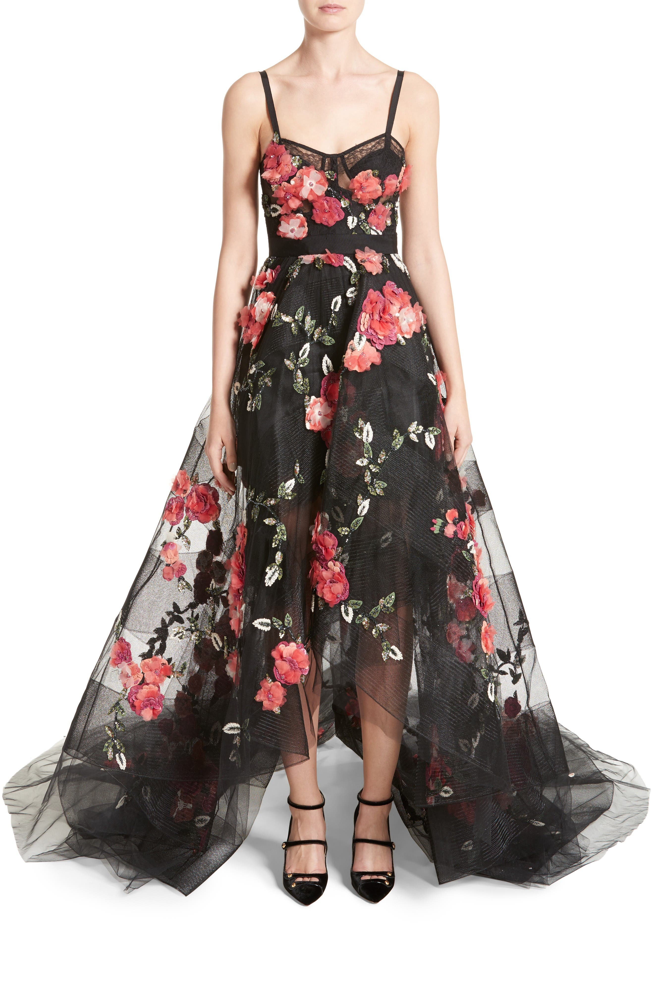 Alternate Image 1 Selected - Marchesa Embellished Tulle Gown
