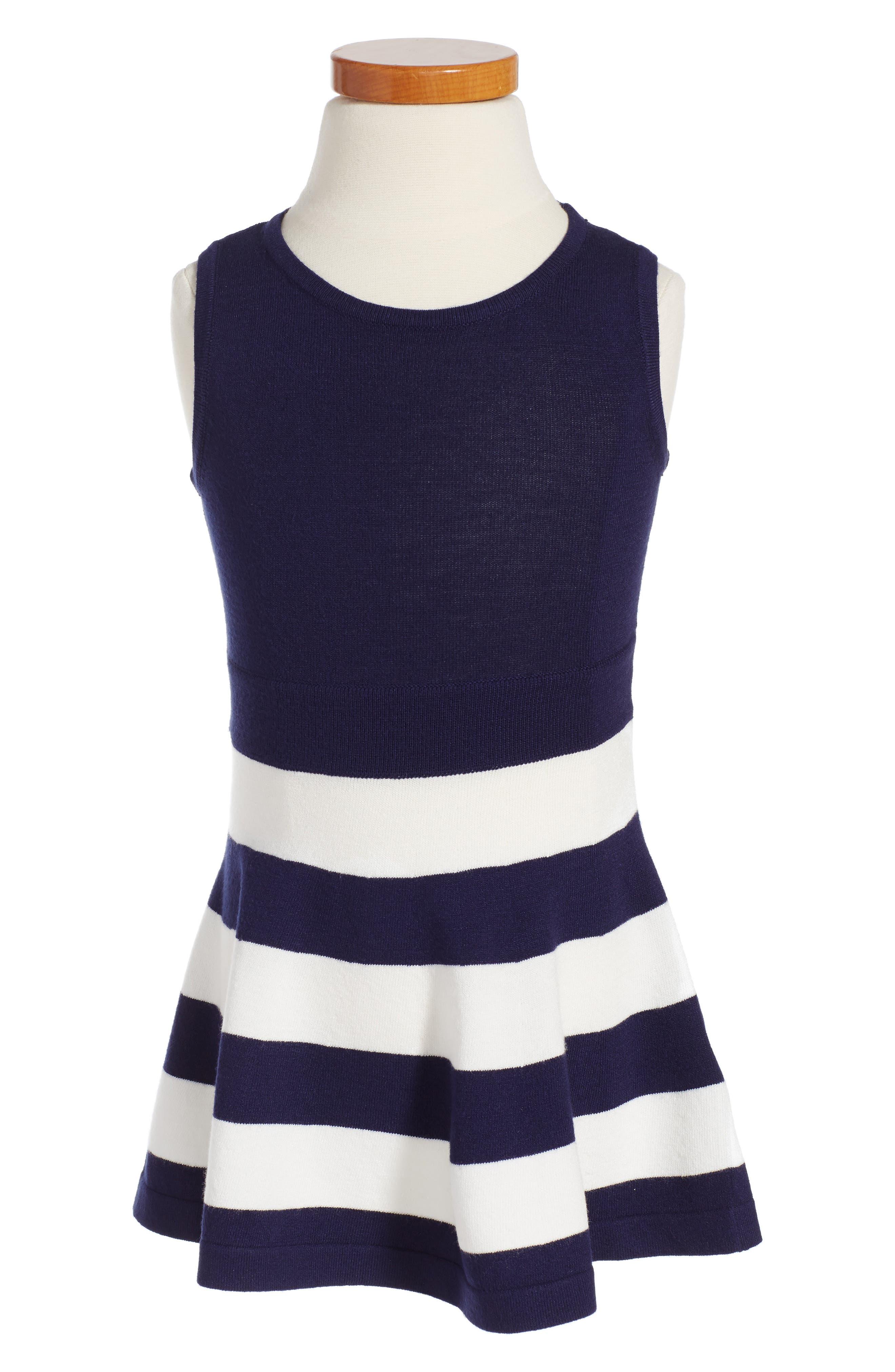Milly Minis Stripe Fit & Flare Dress (Toddler Girls, Little Girls & Big Girls)