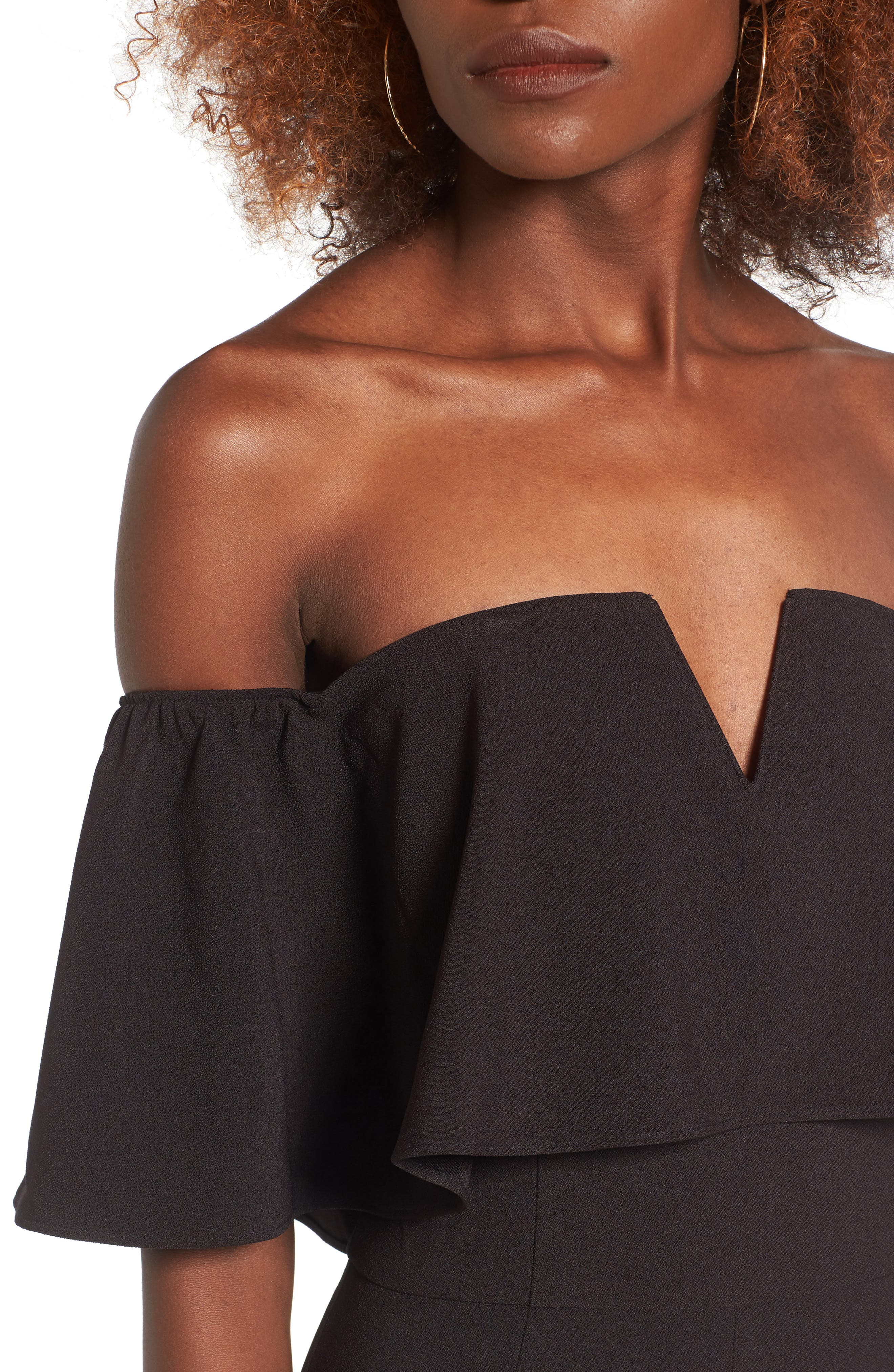 Alternate Image 4  - Leith Strapless Off the Shoulder Jumpsuit