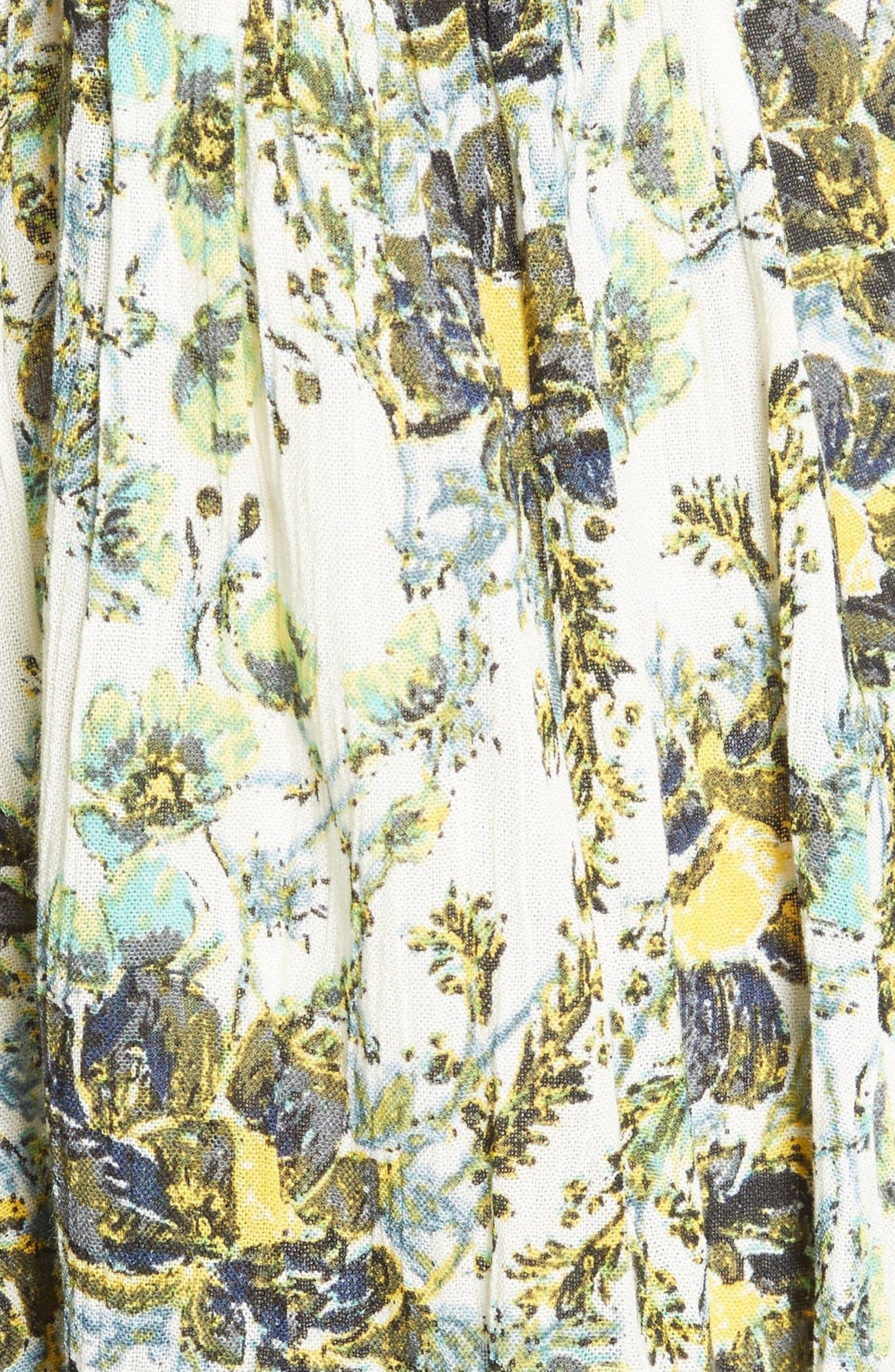 Alternate Image 5  - Free People Floral Print Minidress