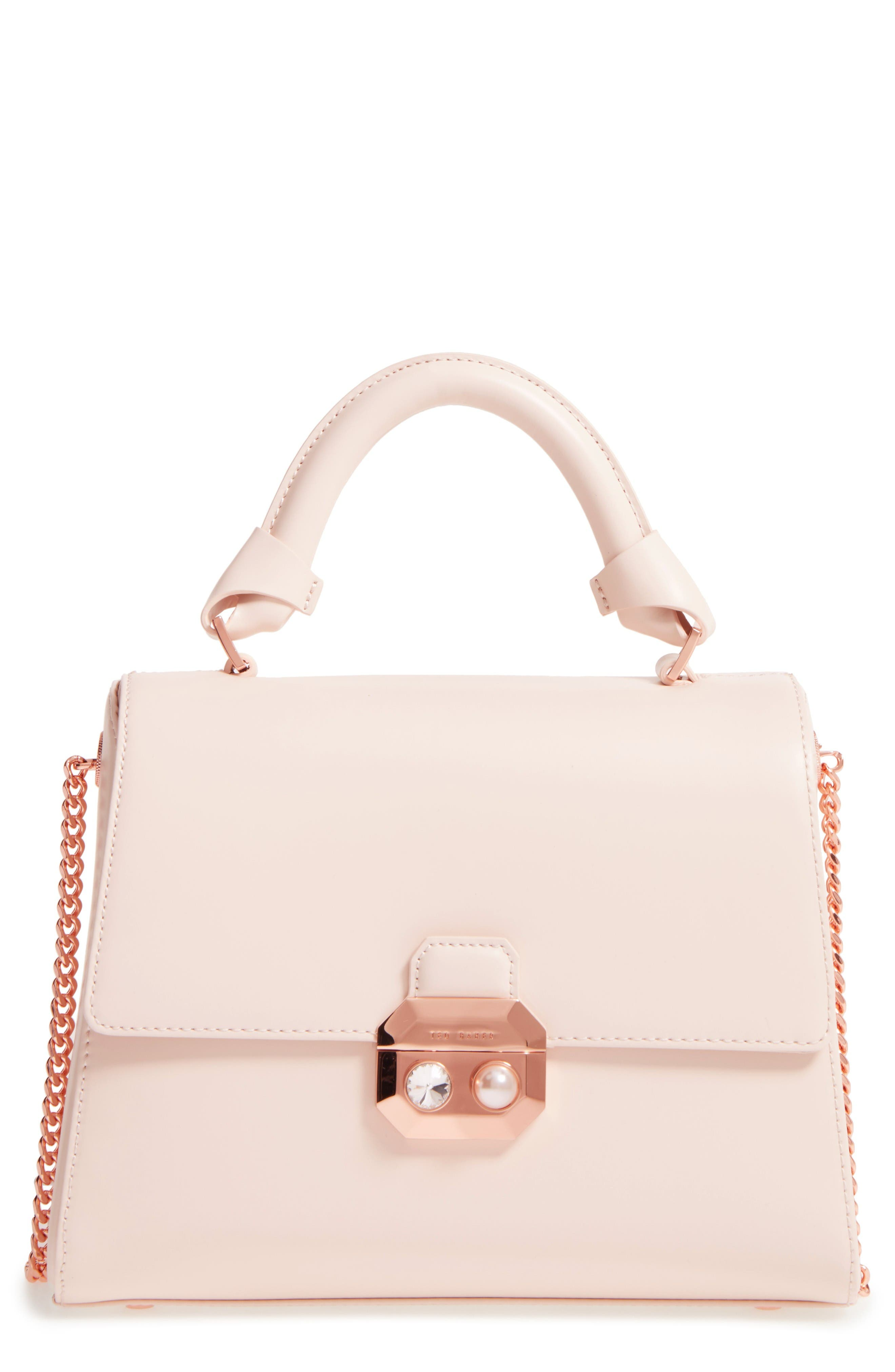 Ted Baker London Leather Top Handle Satchel