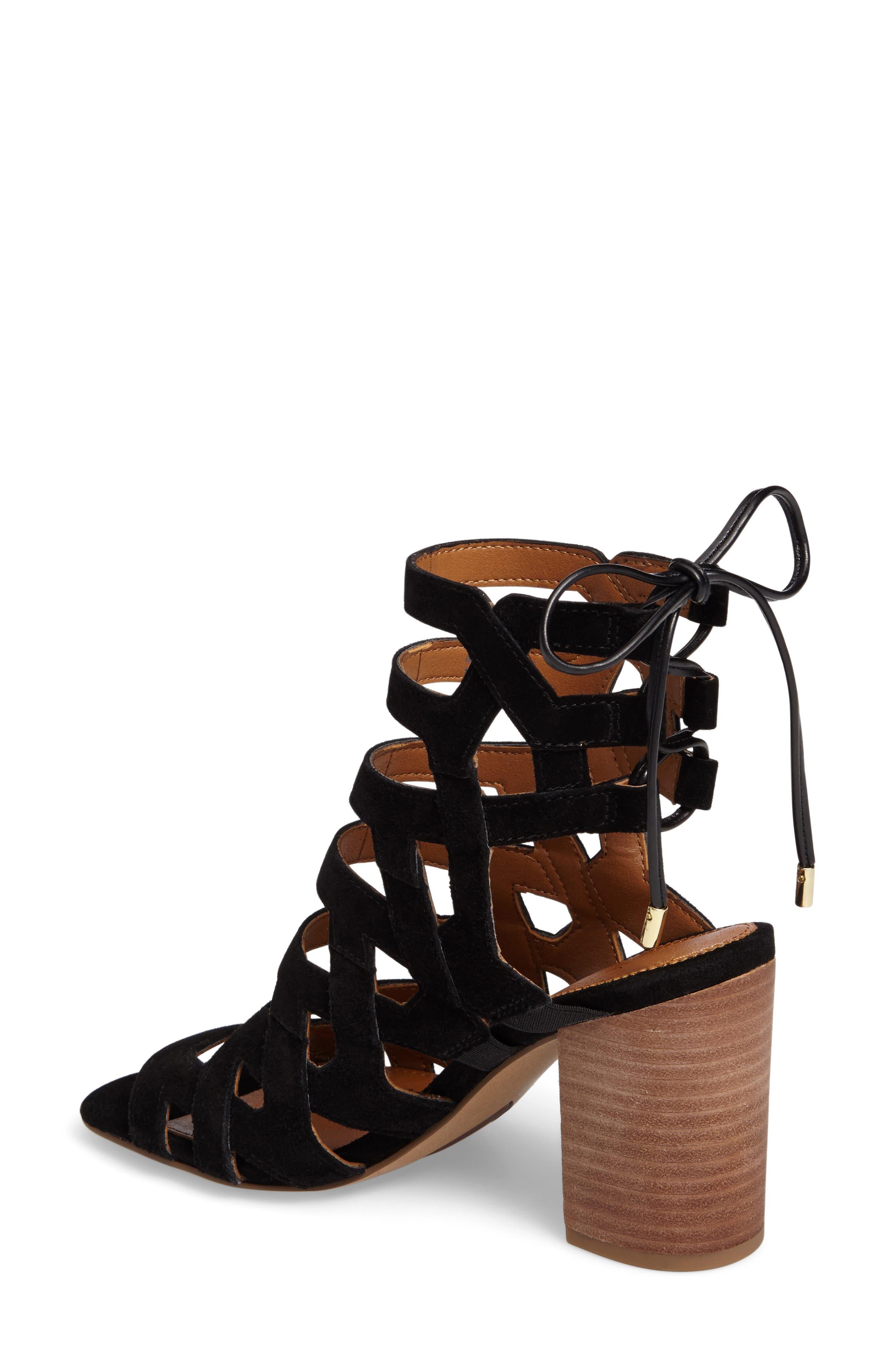 Alternate Image 2  - SARTO by Franco Sarto Connie Block Heel Cage Sandal (Women)