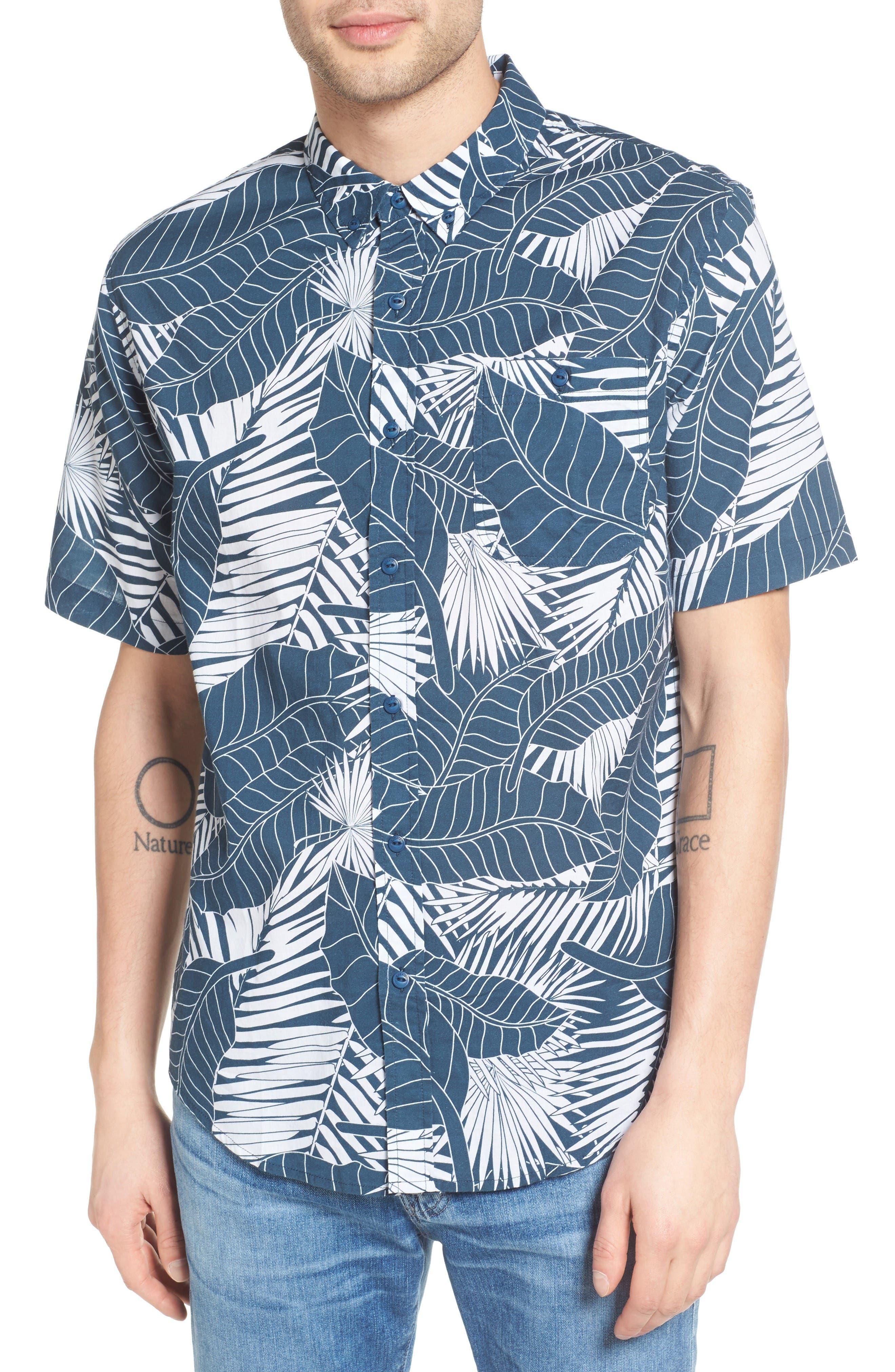 Ezekiel Palm Print Woven Shirt