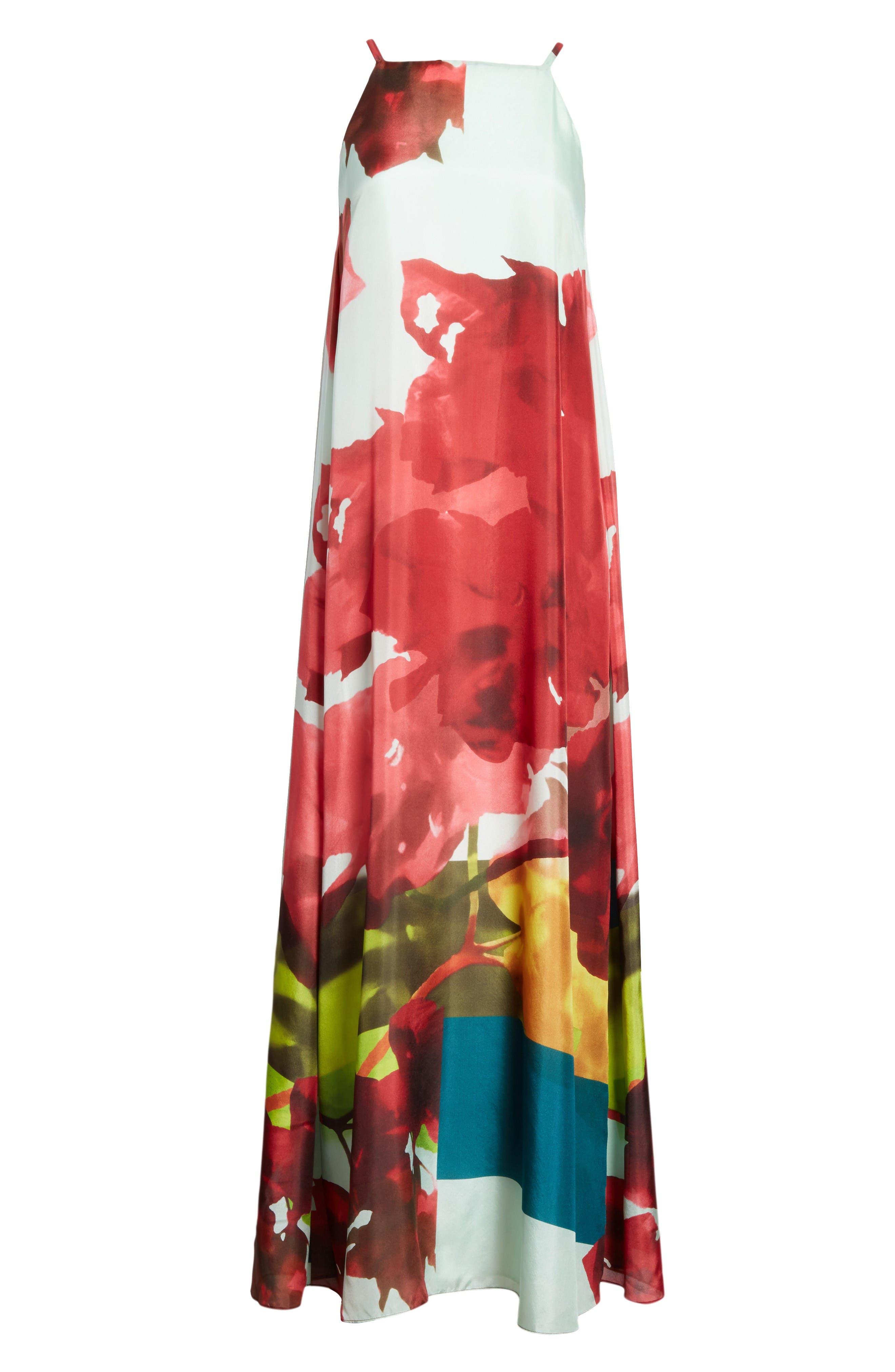 Alternate Image 4  - Lafayette 148 New York Leonissa Print Silk Maxi Dress