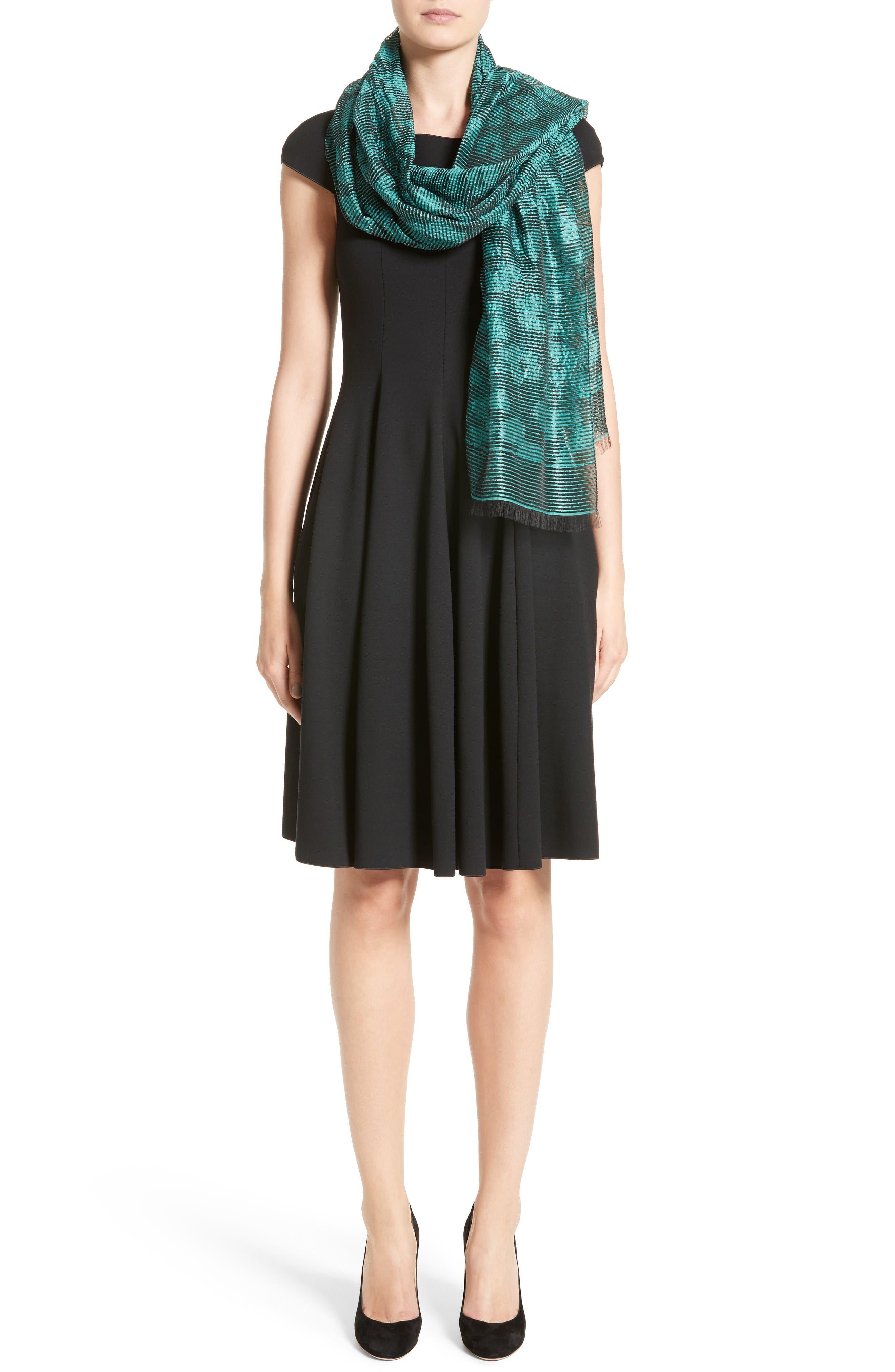 Alternate Image 7  - Armani Collezioni Off the Shoulder Fit & Flare Dress