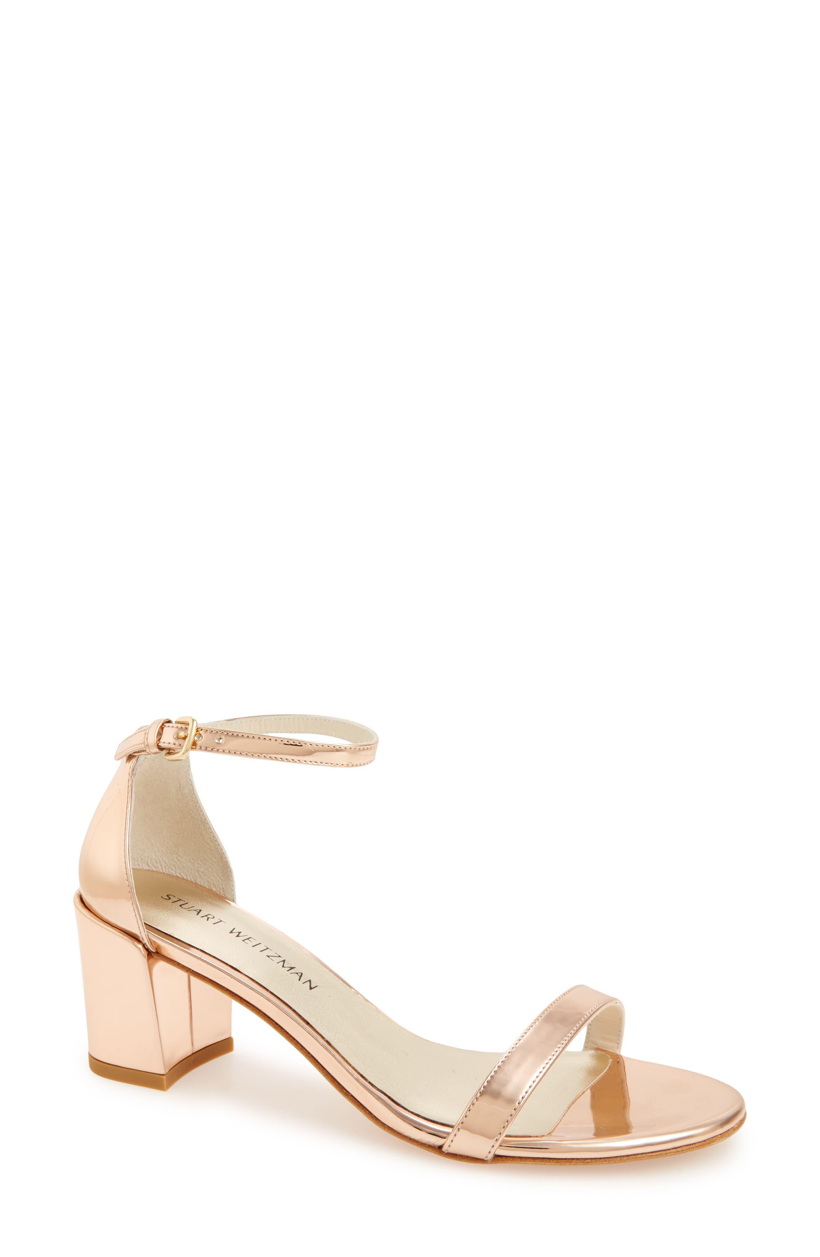 Stuart Weitzman Simple Ankle Strap Sandal (Women)