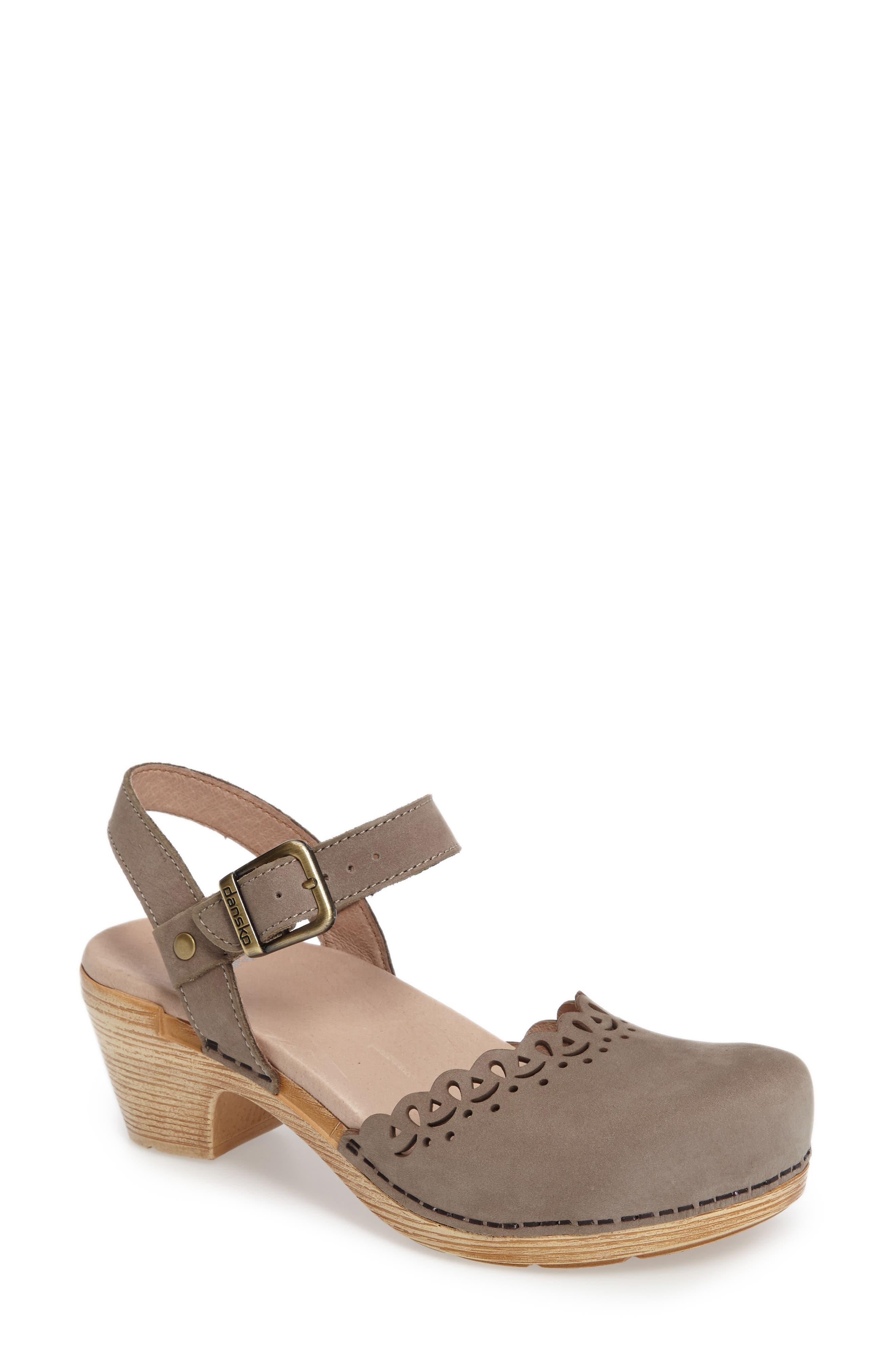 Main Image - Dansko 'Marta' Ankle Strap Clog (Women)