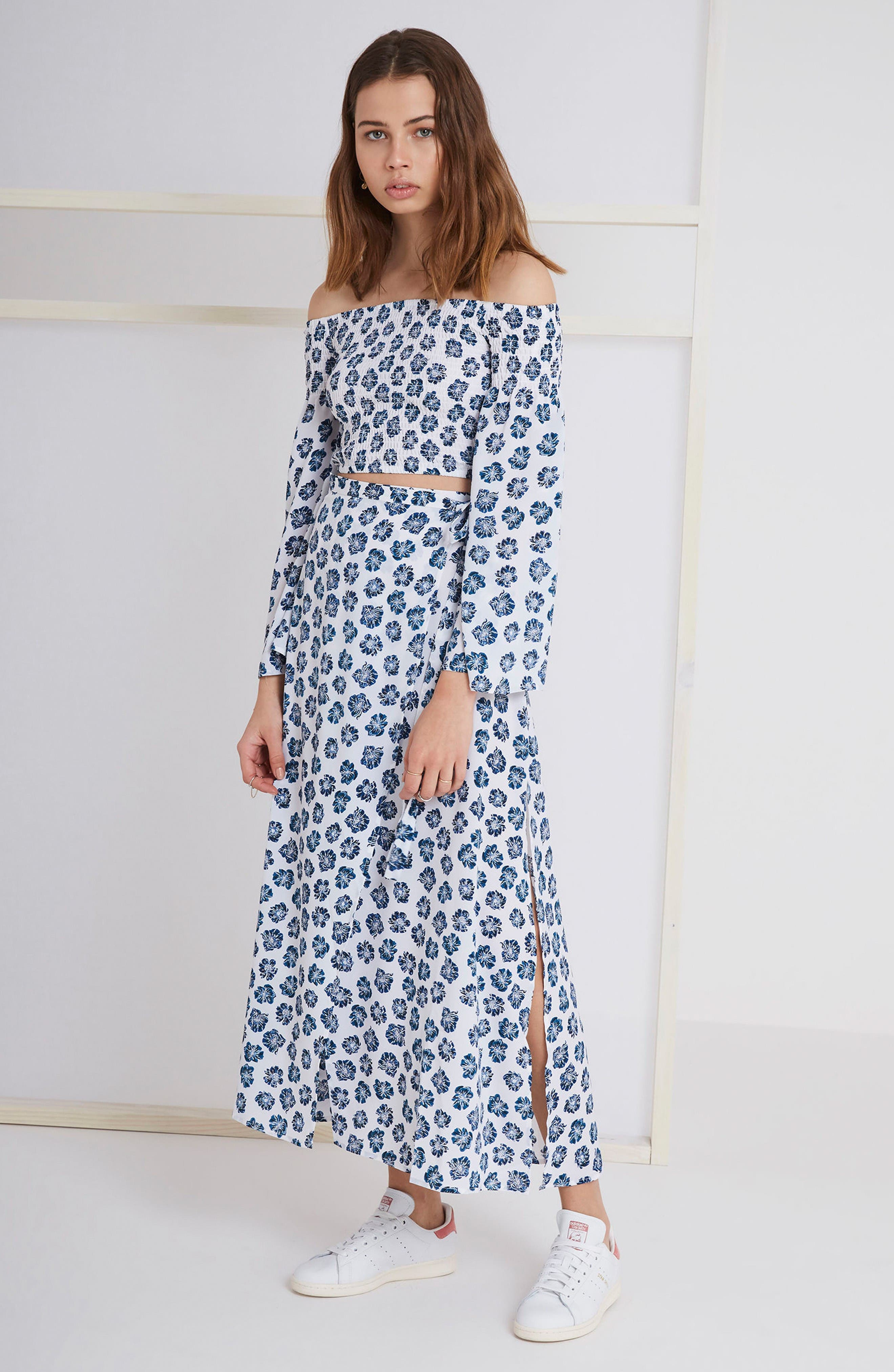 Alternate Image 2  - The Fifth Label Romancing Print Wrap Skirt
