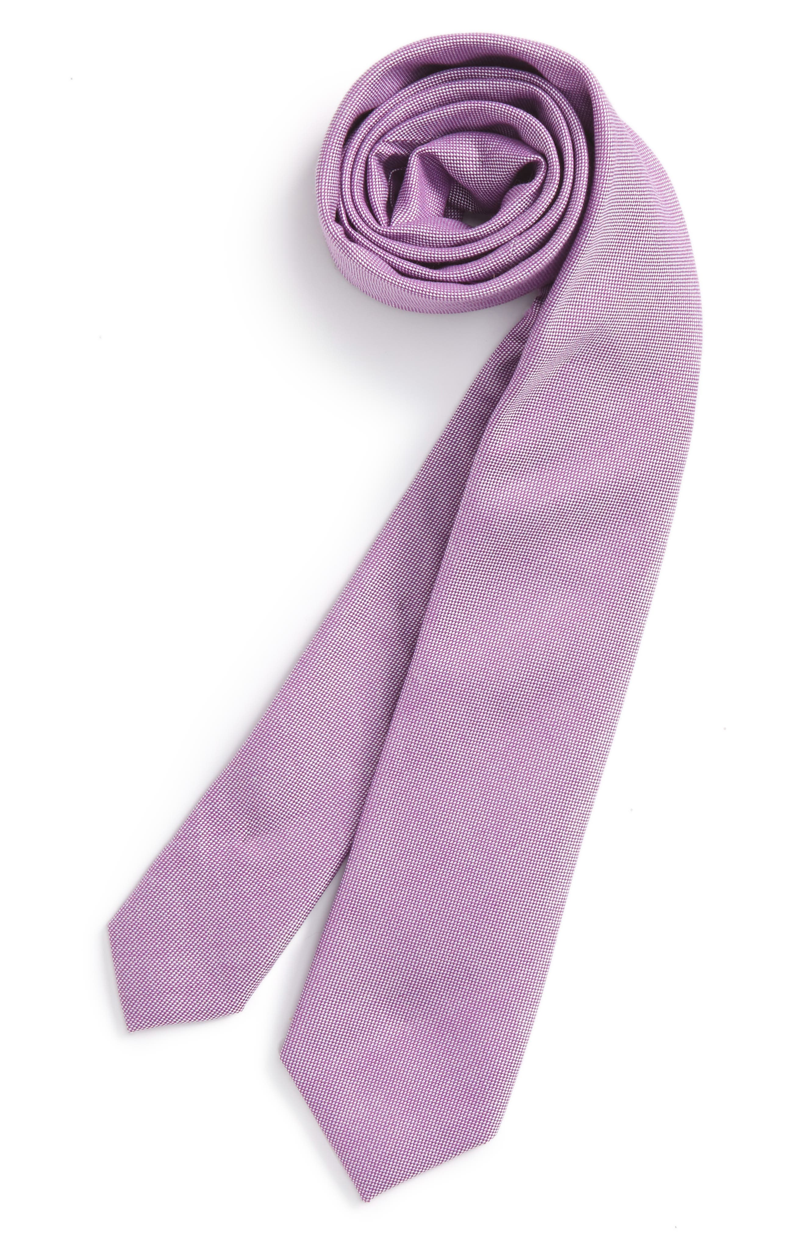 Nordstrom Solid Cotton Tie (Big Boys)