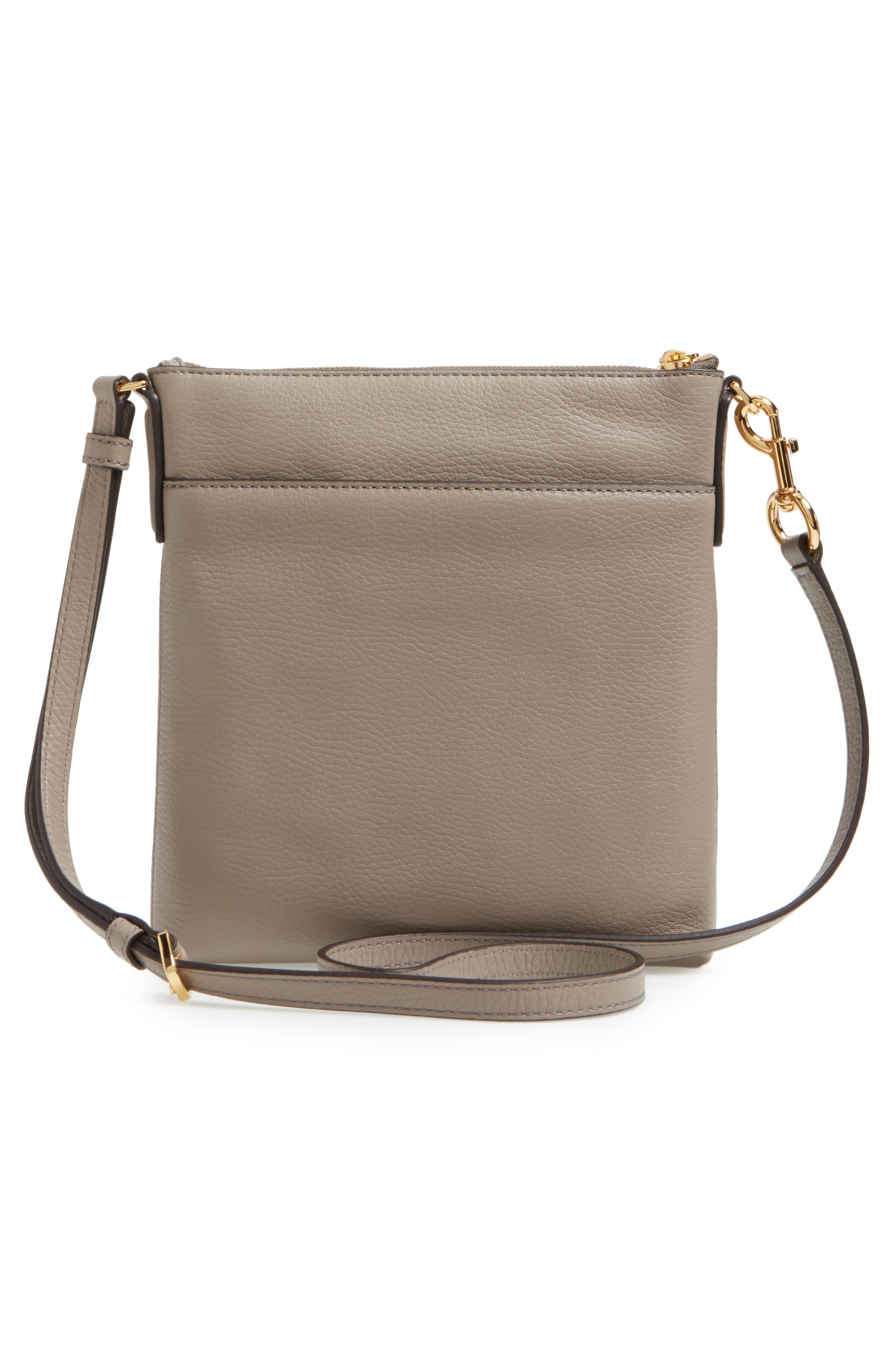Recruit North/South Leather Crossbody Bag,                             Alternate thumbnail 3, color,                             Mink