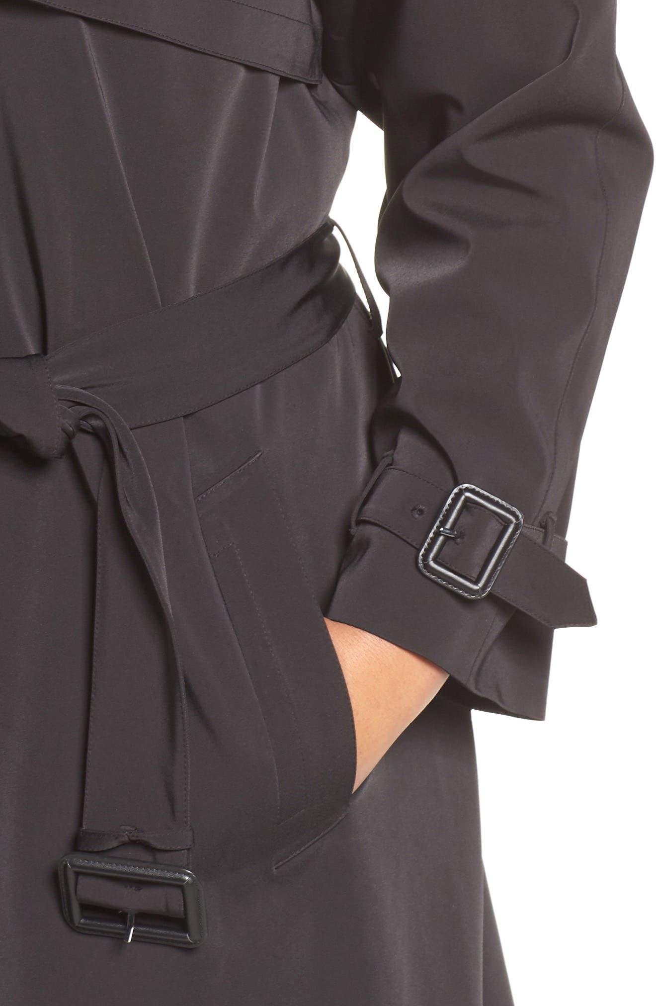 Alternate Image 4  - MICHAEL Michael Kors Trench Coat (Plus Size)