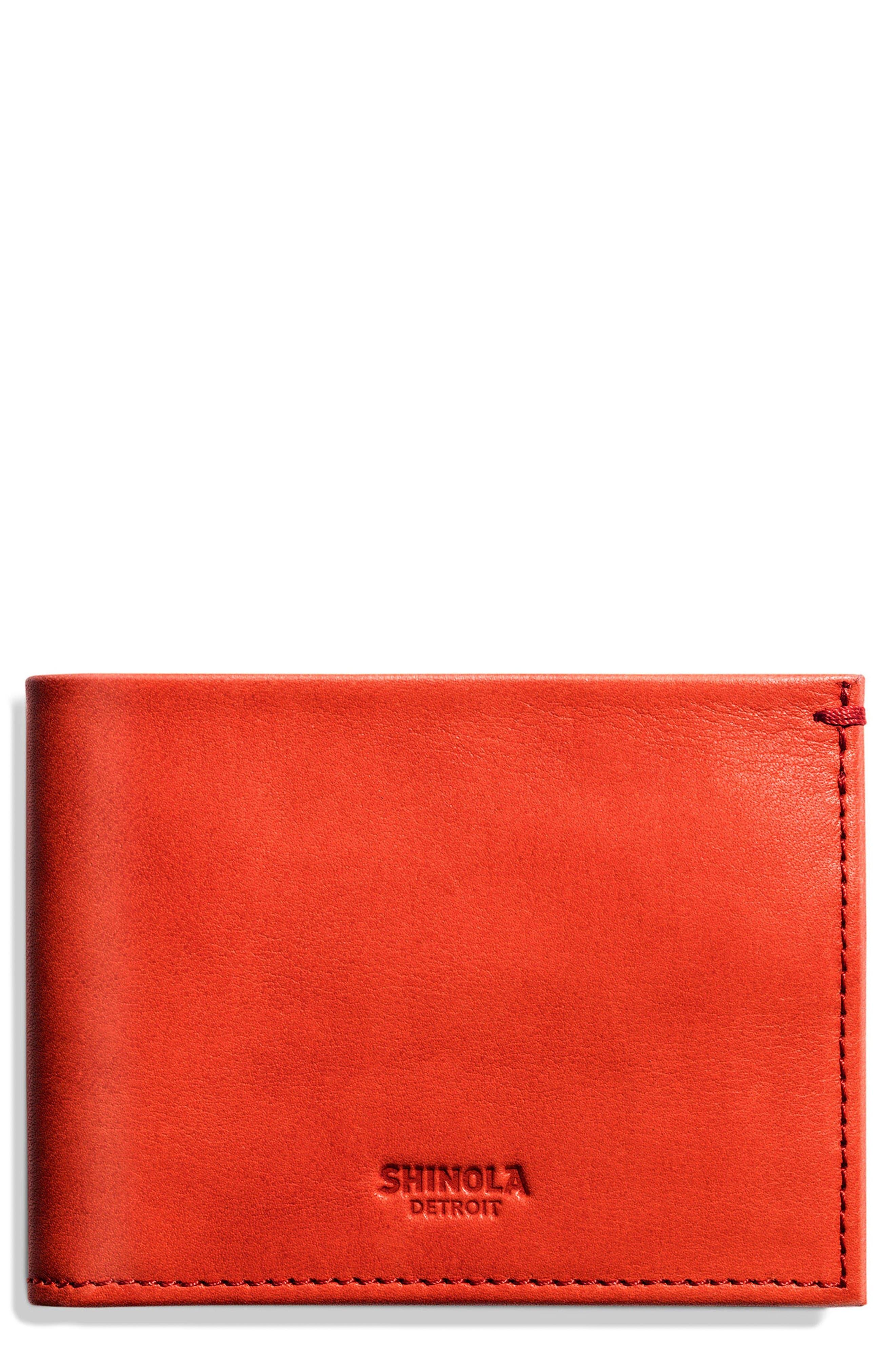 Main Image - Shinola Slim Bifold Leather Wallet