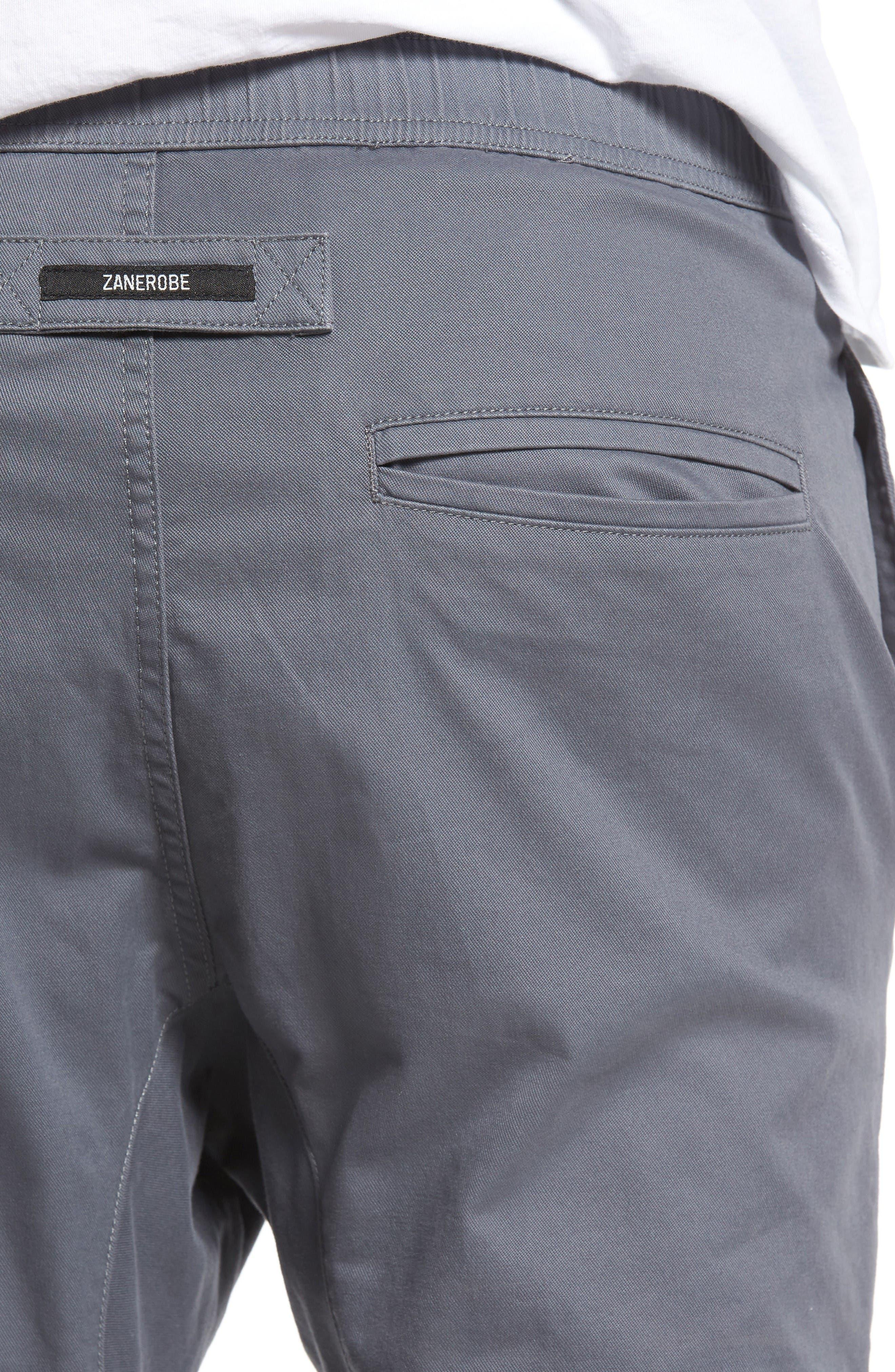 Salerno Stretch Woven Jogger Pants,                             Alternate thumbnail 4, color,                             Grey
