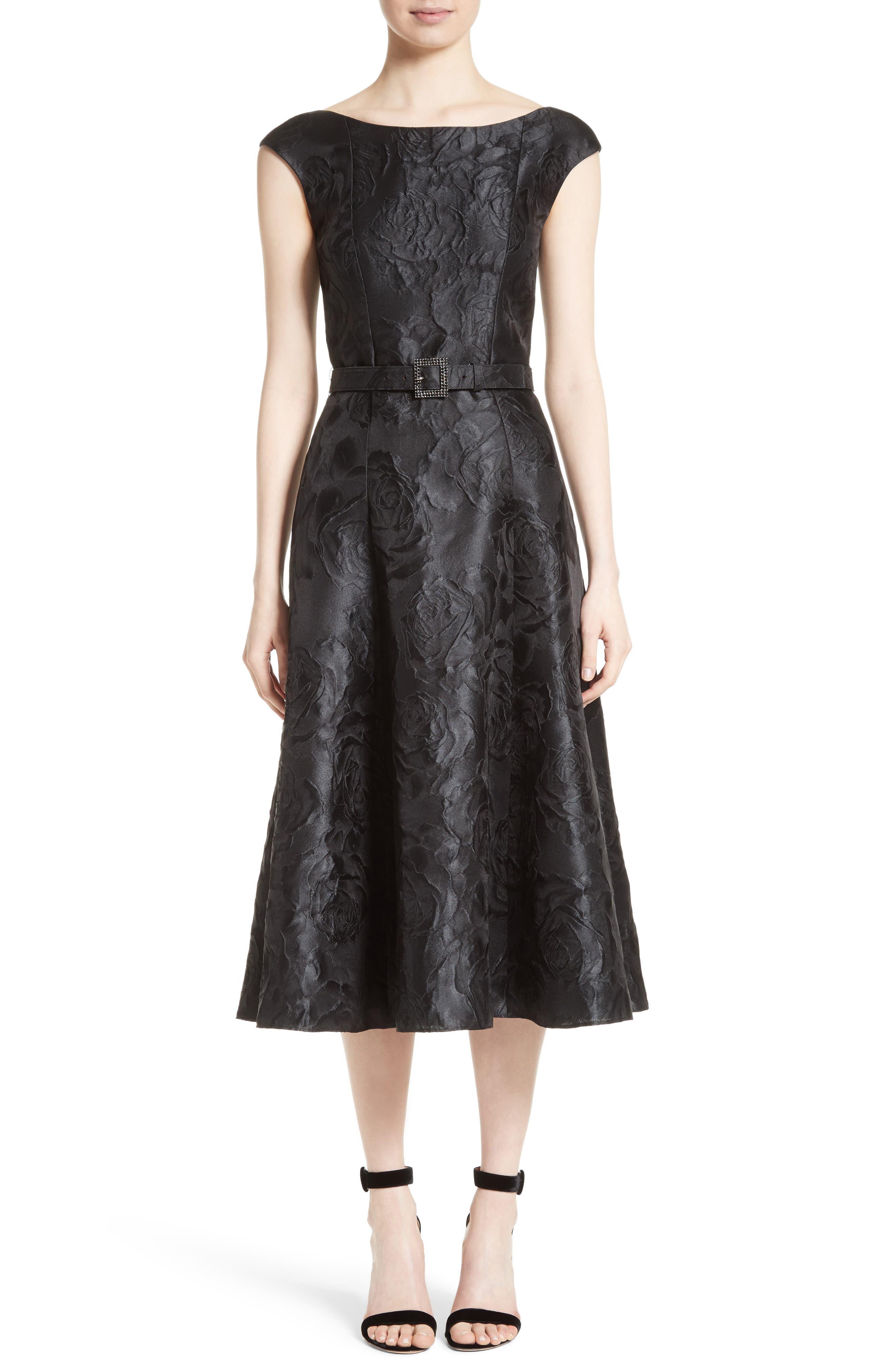 St. John Collection Avani Rose Jacquard Dress