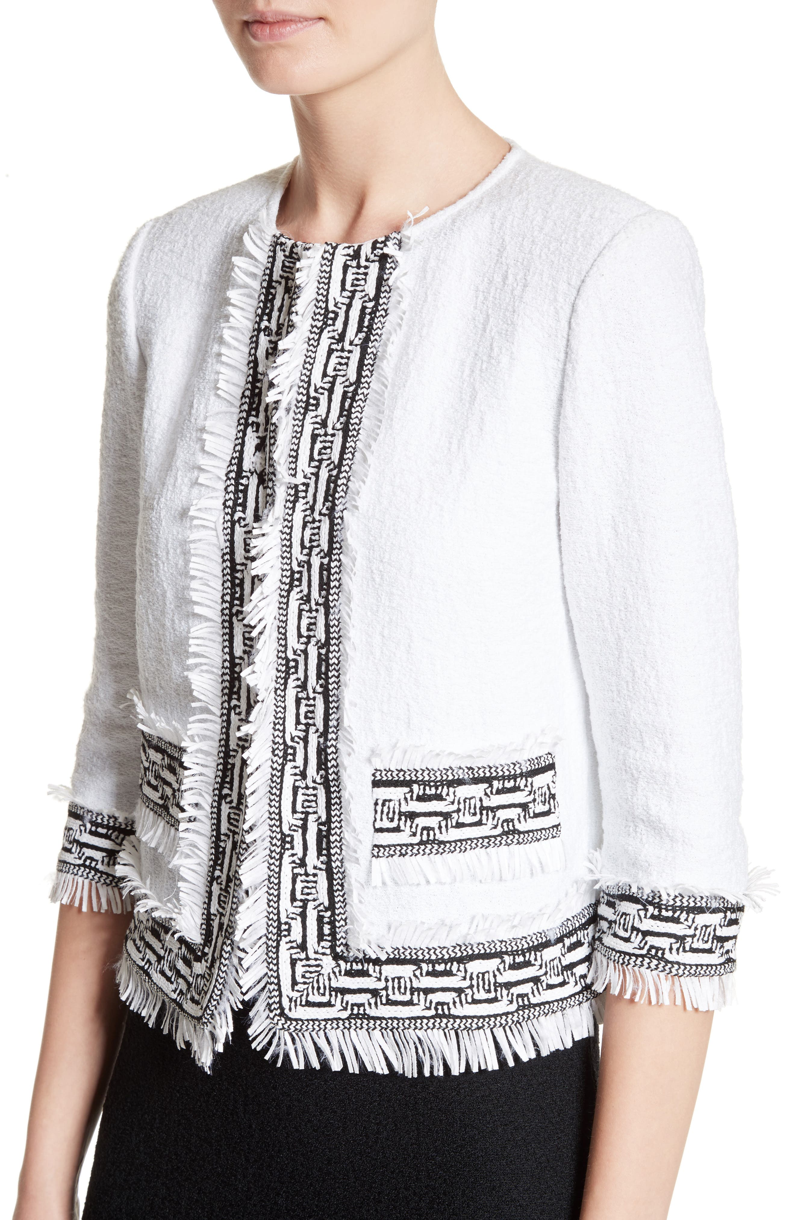 Alternate Image 4  - St. John Collection Fringe Clair Knit Jacket