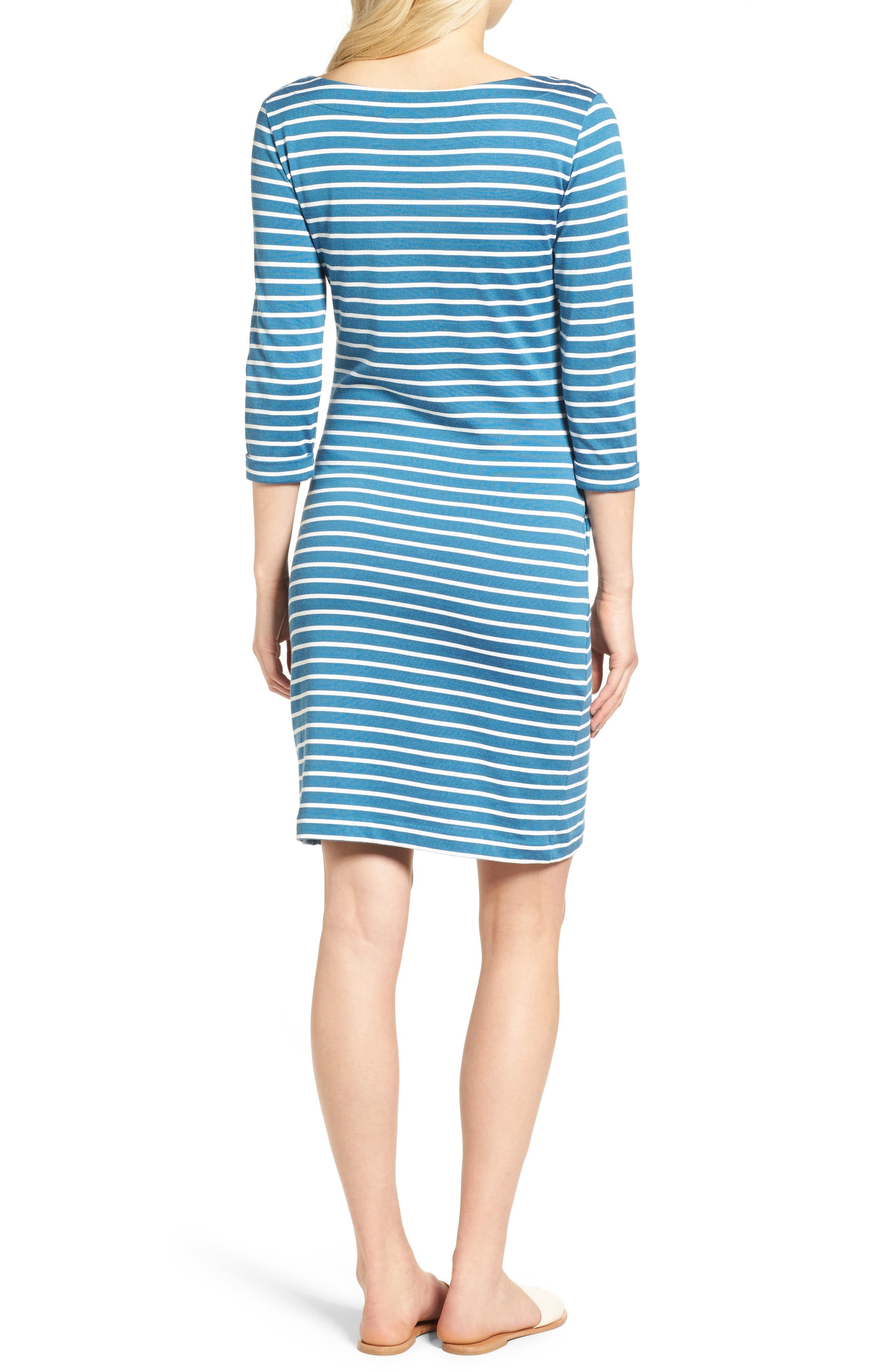 Alternate Image 2  - Barbour Wharf Stripe Jersey Dress