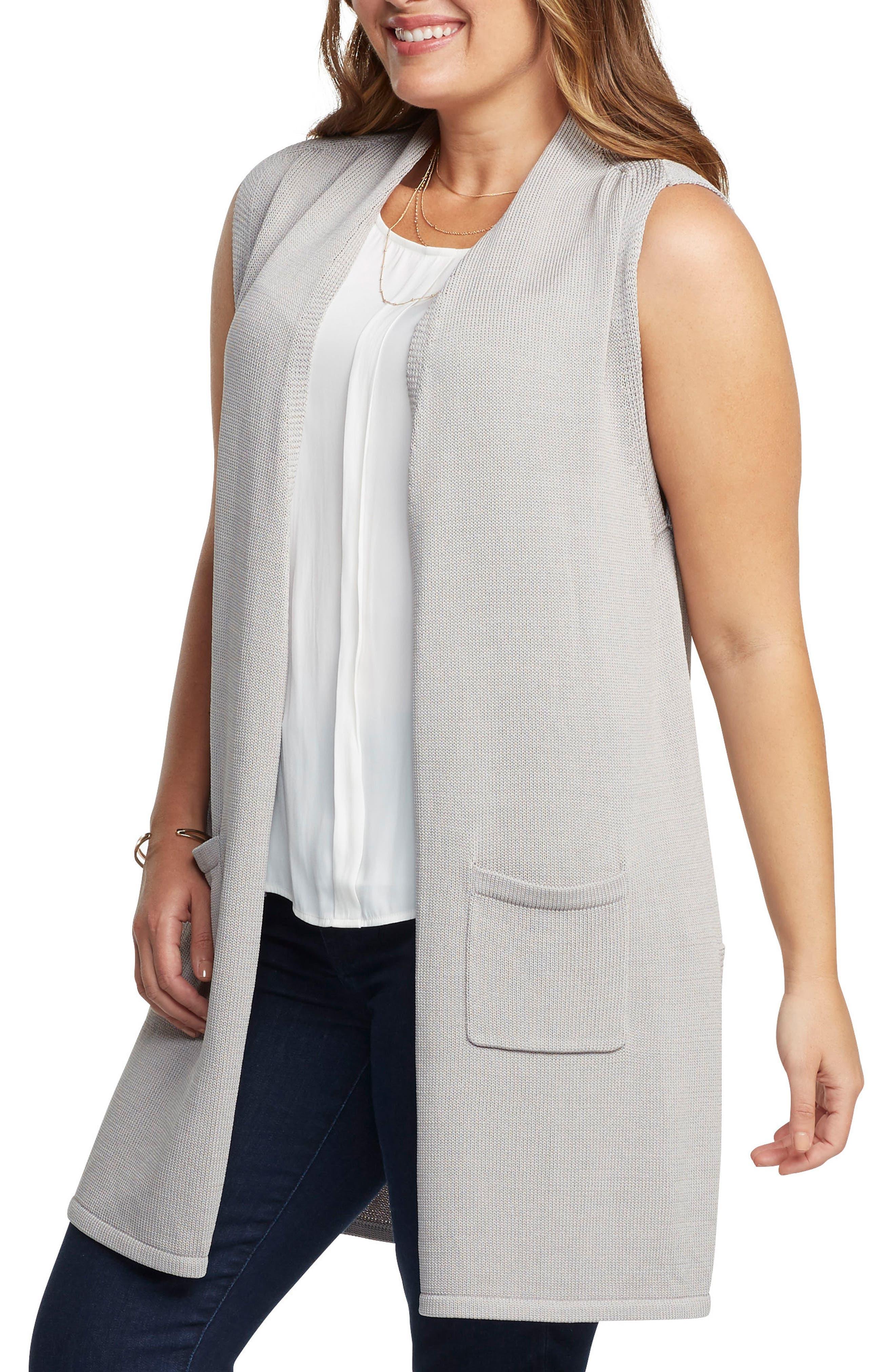 Alternate Image 3  - Tart Holly Knit Open Front Vest (Plus Size)