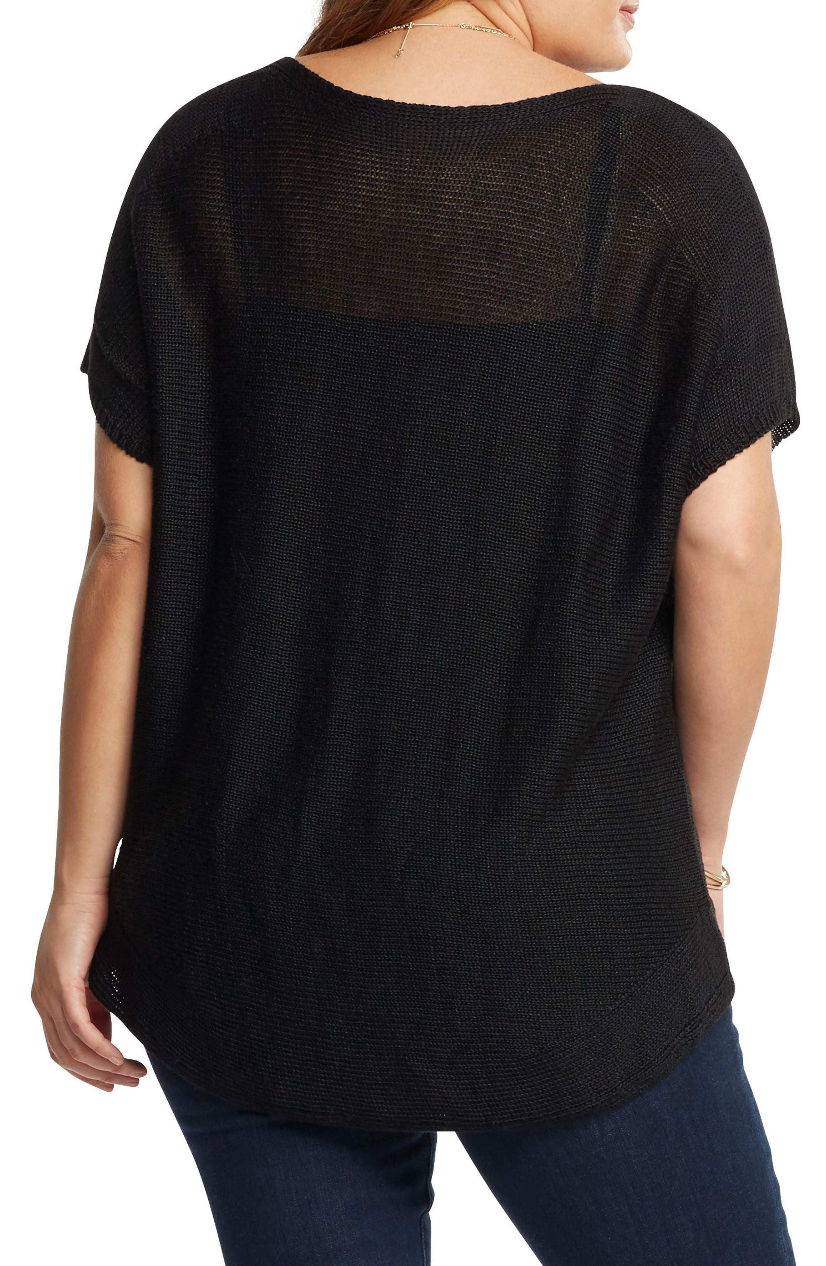 Padma Linen Blend Sweater,                             Alternate thumbnail 2, color,                             Black