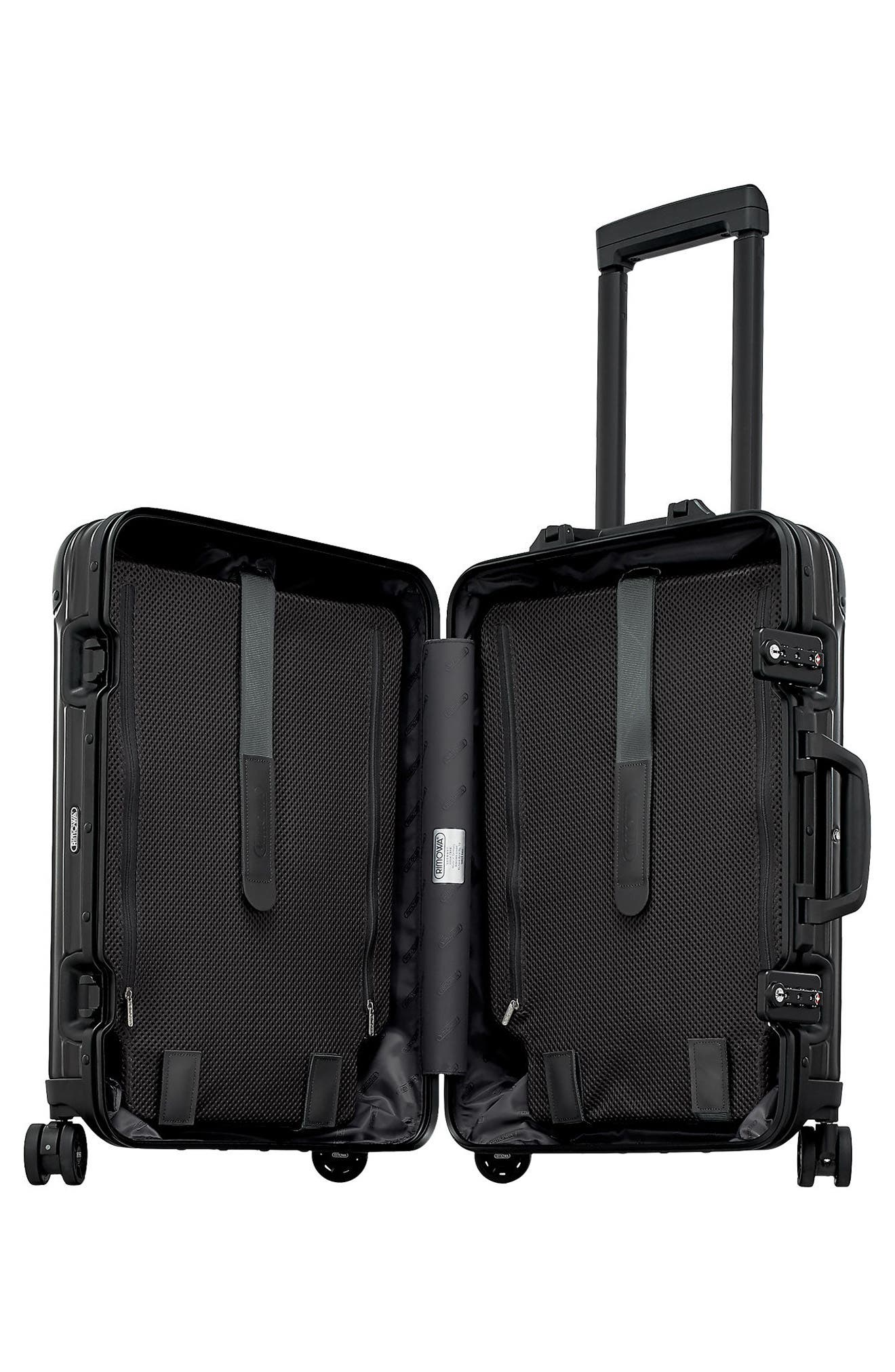 Alternate Image 2  - RIMOWA Topas Stealth 22-Inch Cabin Multiwheel® Aluminum Carry-On