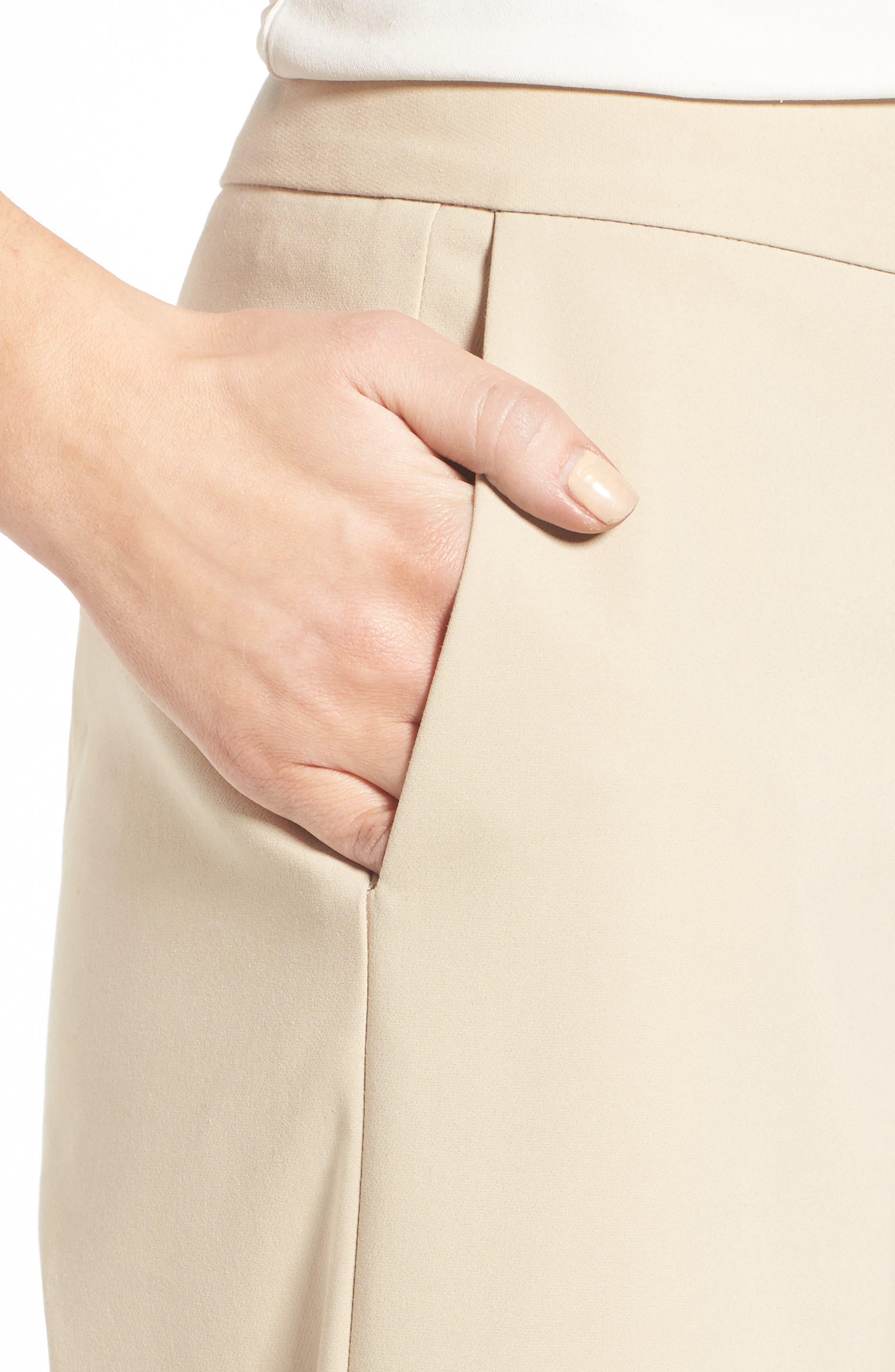 Wide Leg Crop Pants,                             Alternate thumbnail 4, color,                             Beige Hummus