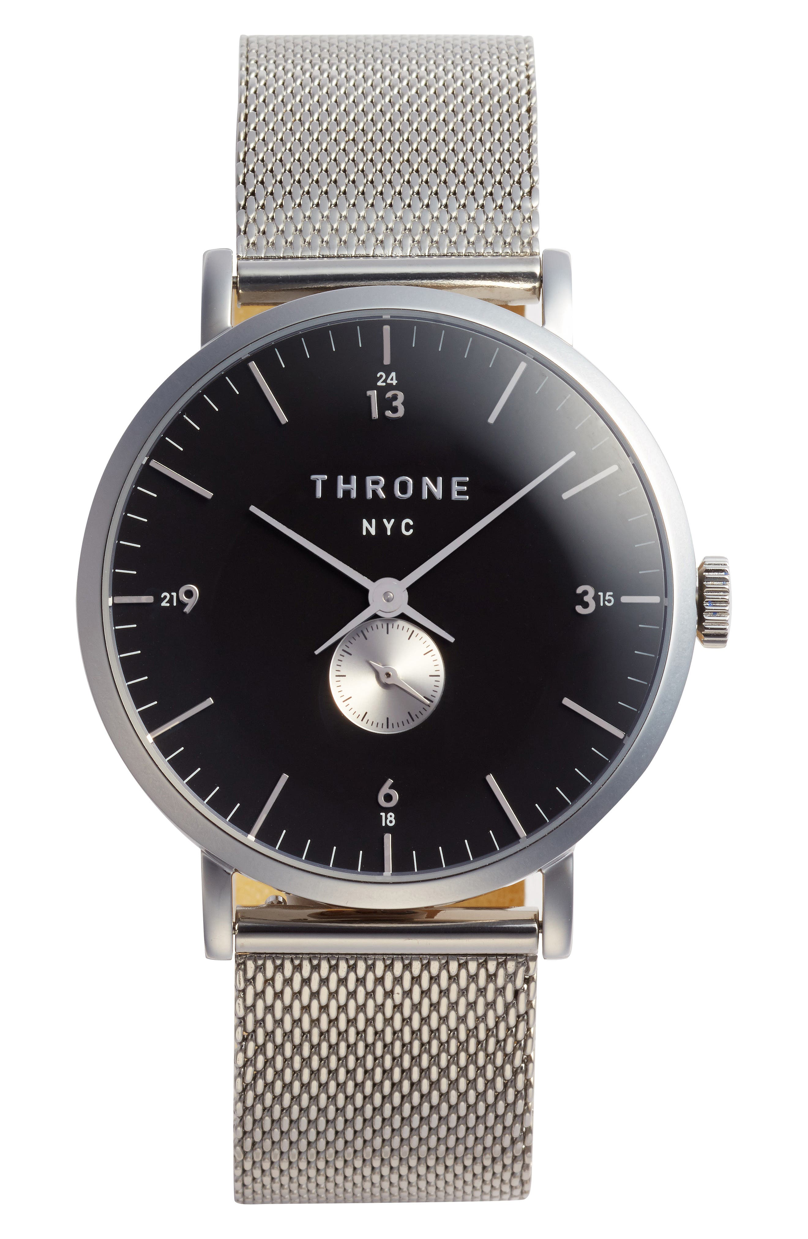 THRONE 1.0 Mesh Strap Watch, 40mm