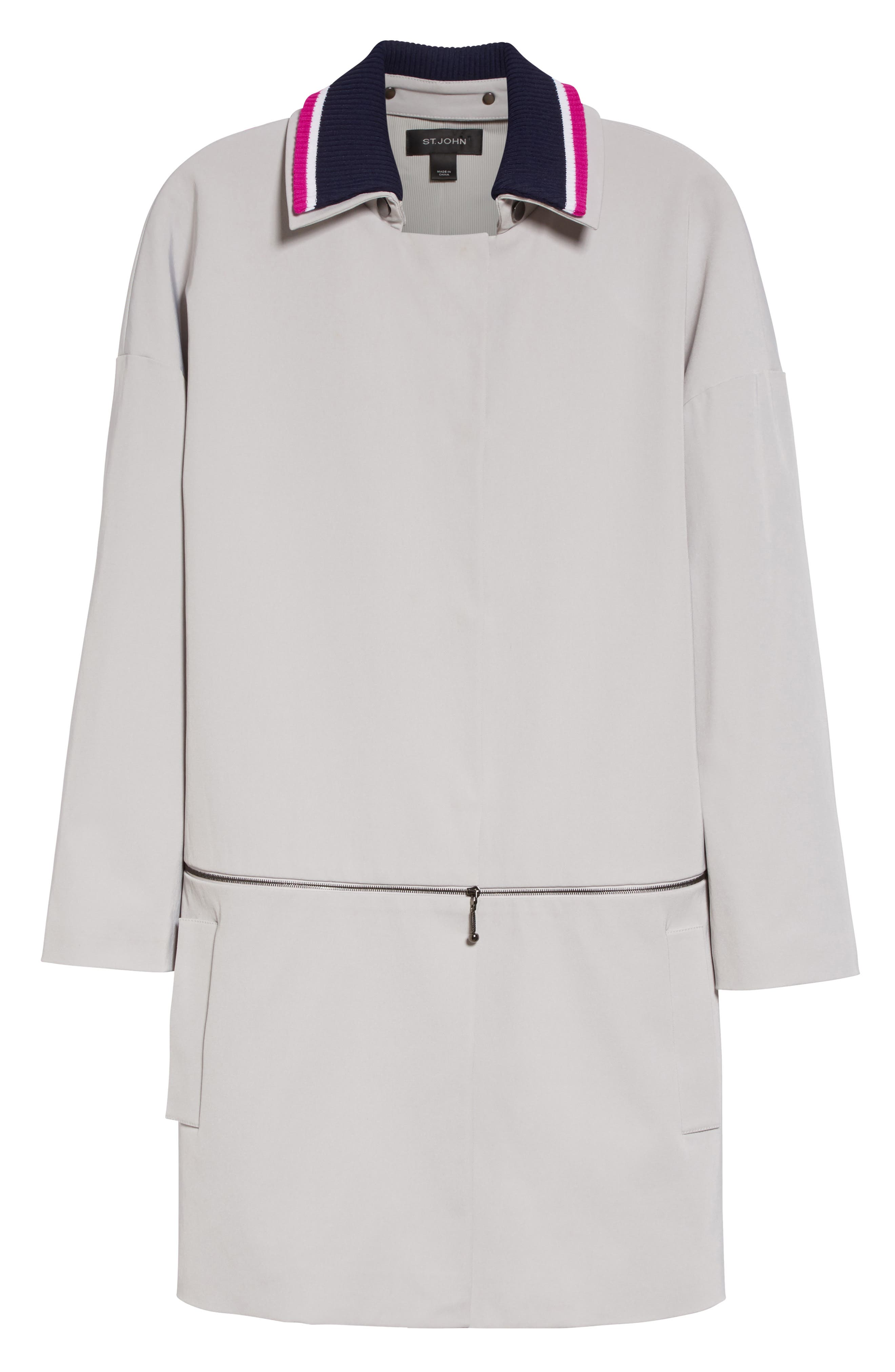 Alternate Image 7  - St. John Collection Stretch Twill Convertible Coat
