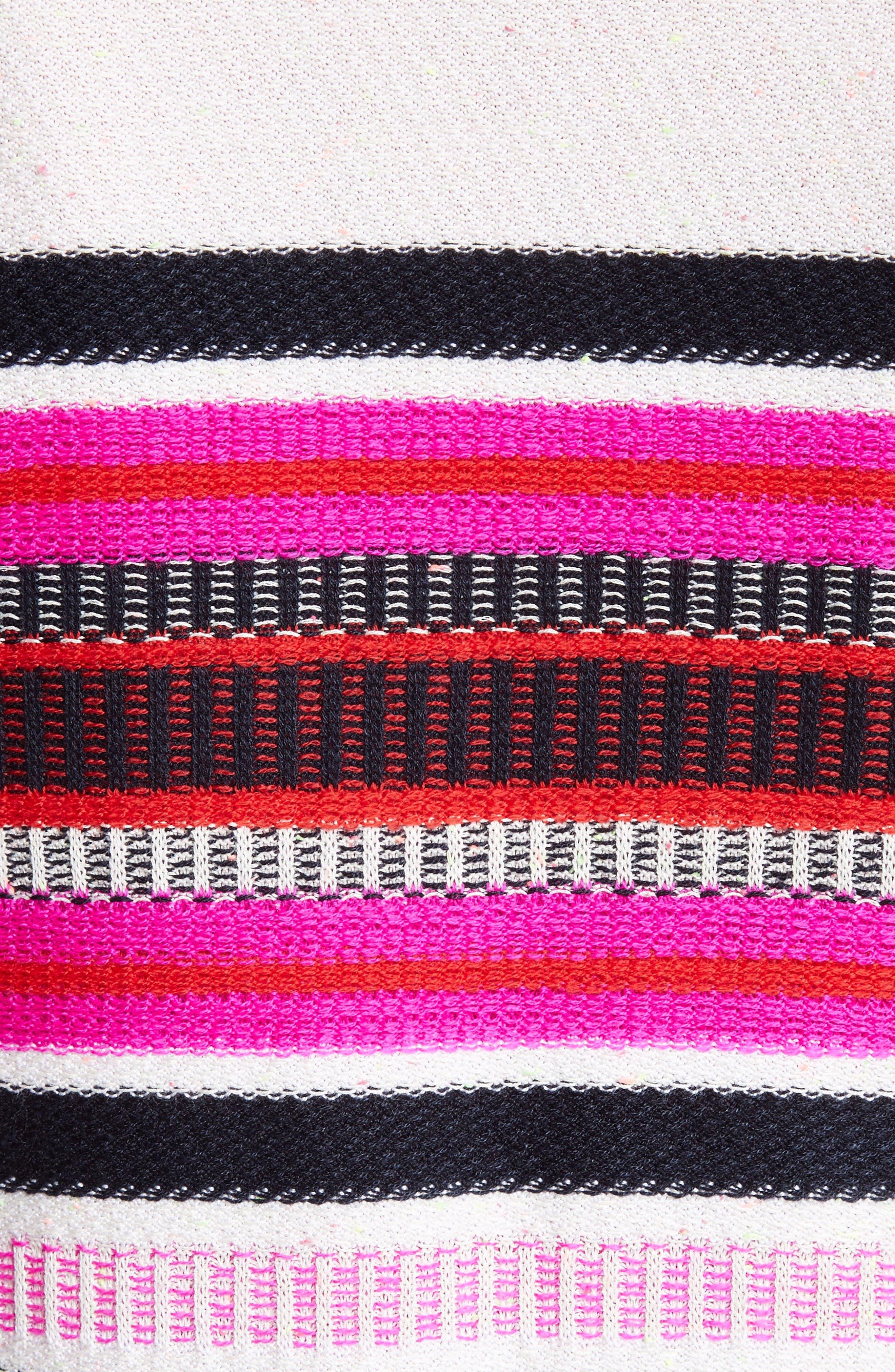 Jacquard Weave Stitch Cardigan,                             Alternate thumbnail 6, color,                             Bianco Multi