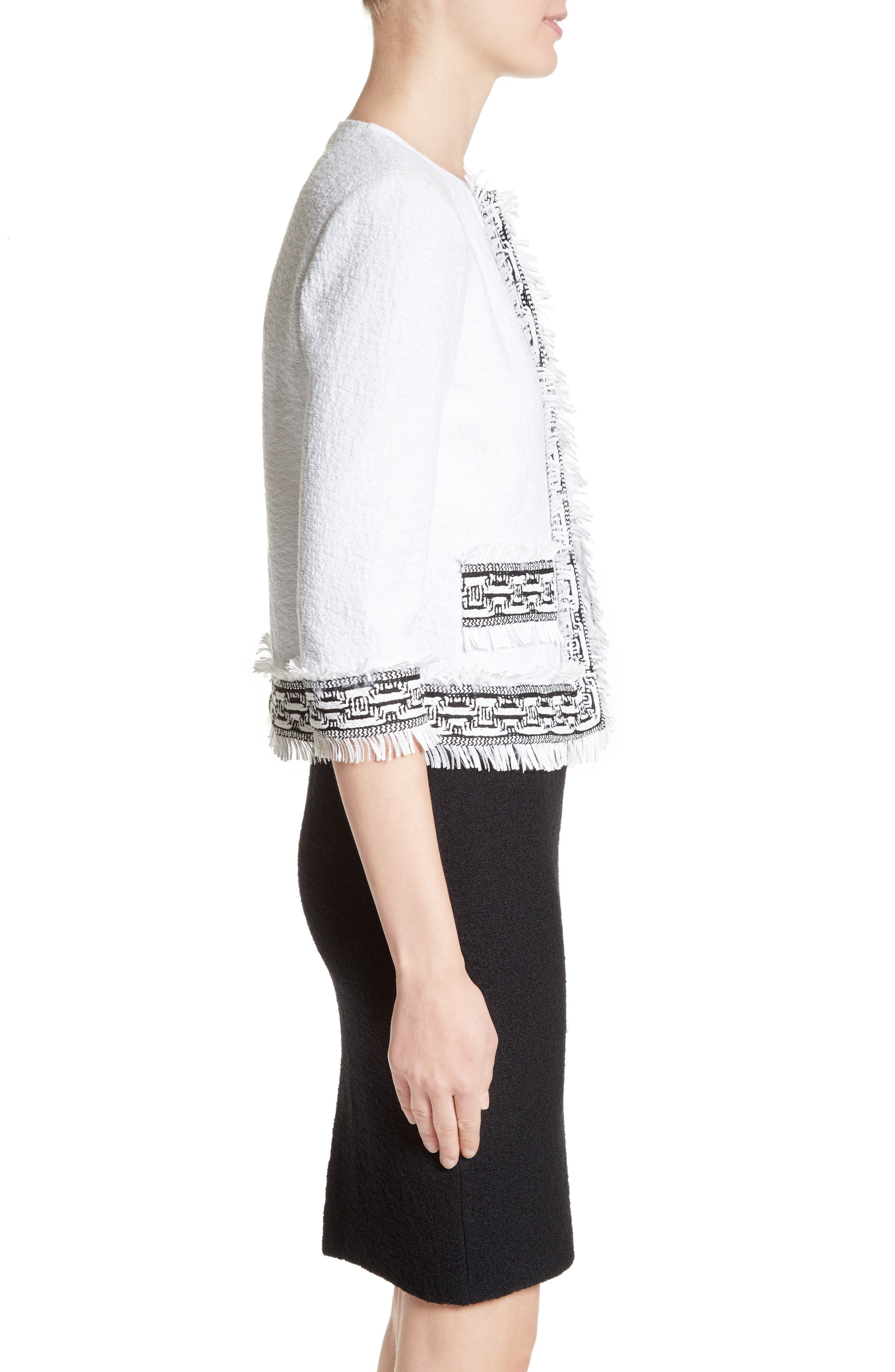 Alternate Image 3  - St. John Collection Fringe Clair Knit Jacket
