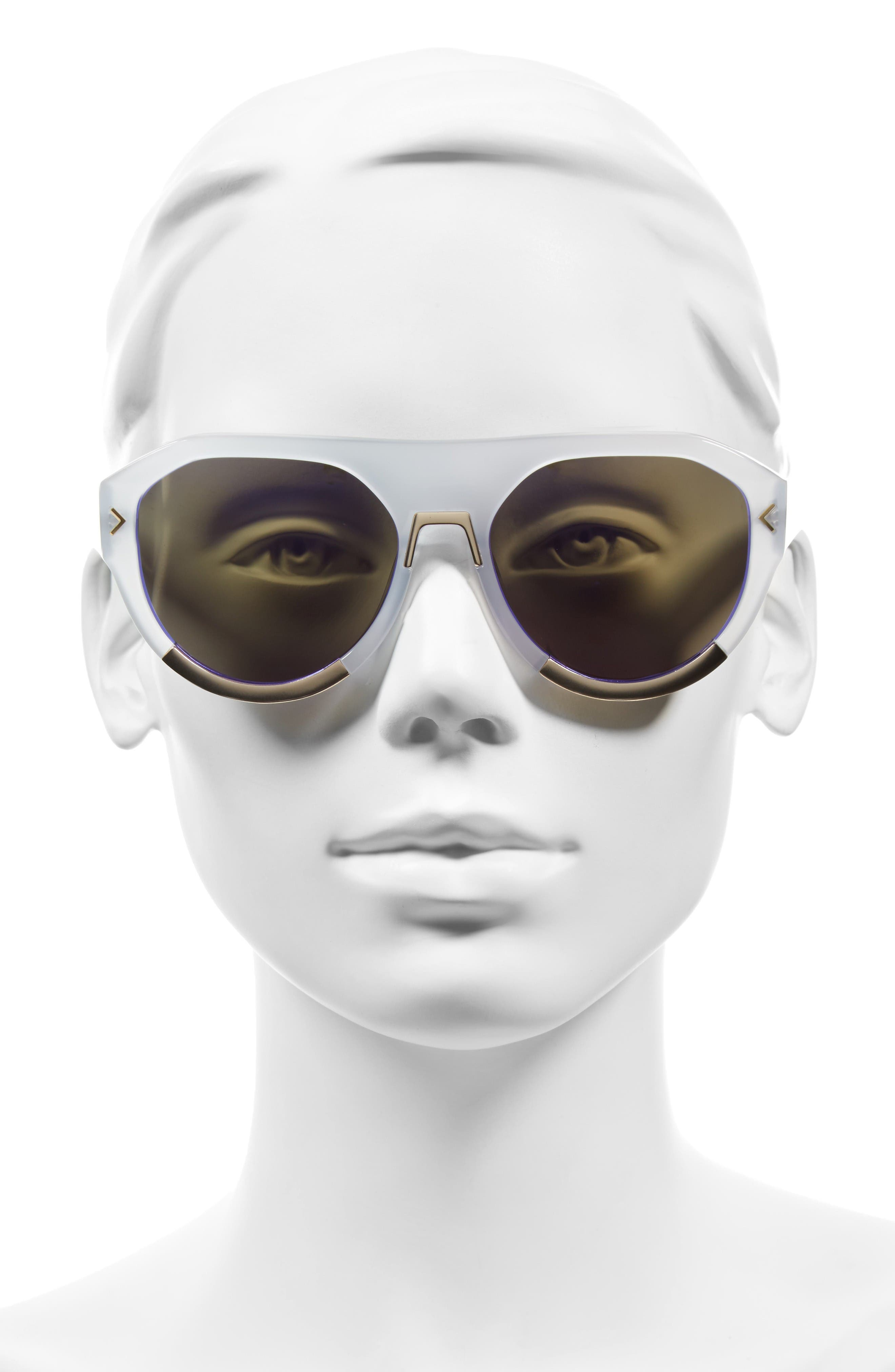 Alternate Image 2  - KENDALL + KYLIE Mercy 55mm Aviator Sunglasses