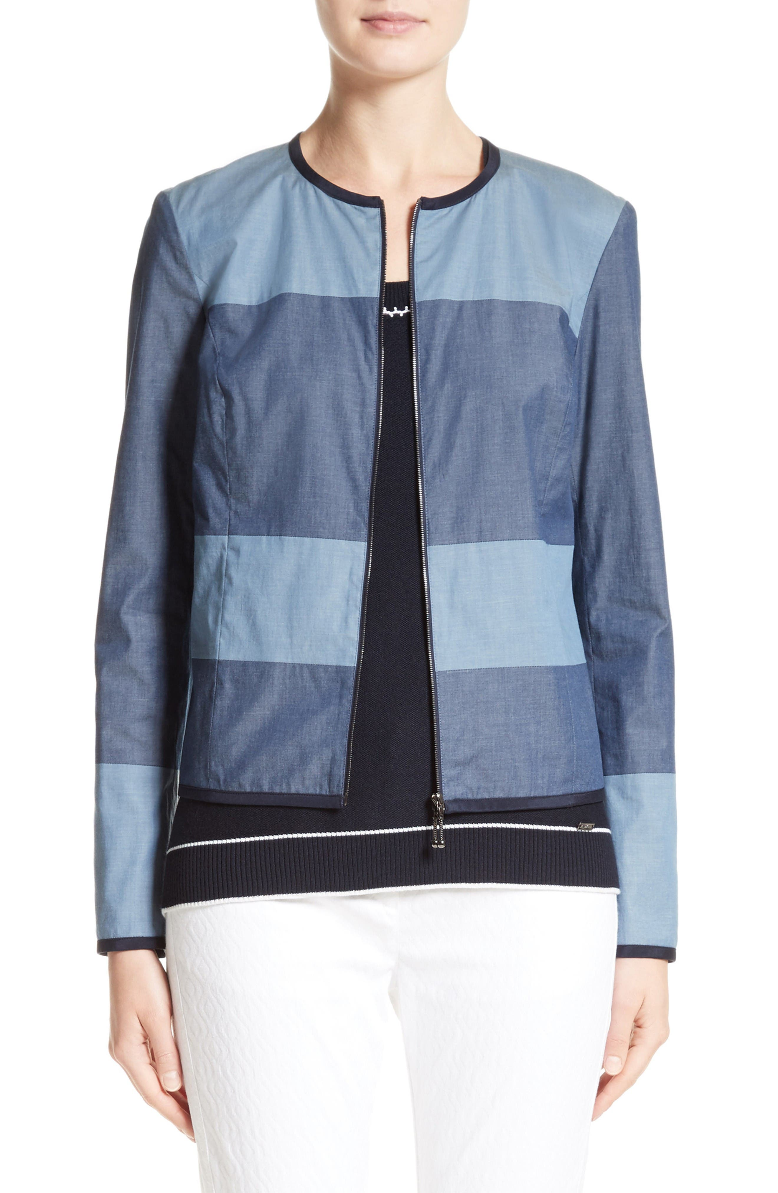 St. John Collection Devika Tile Print Reversible Jacket