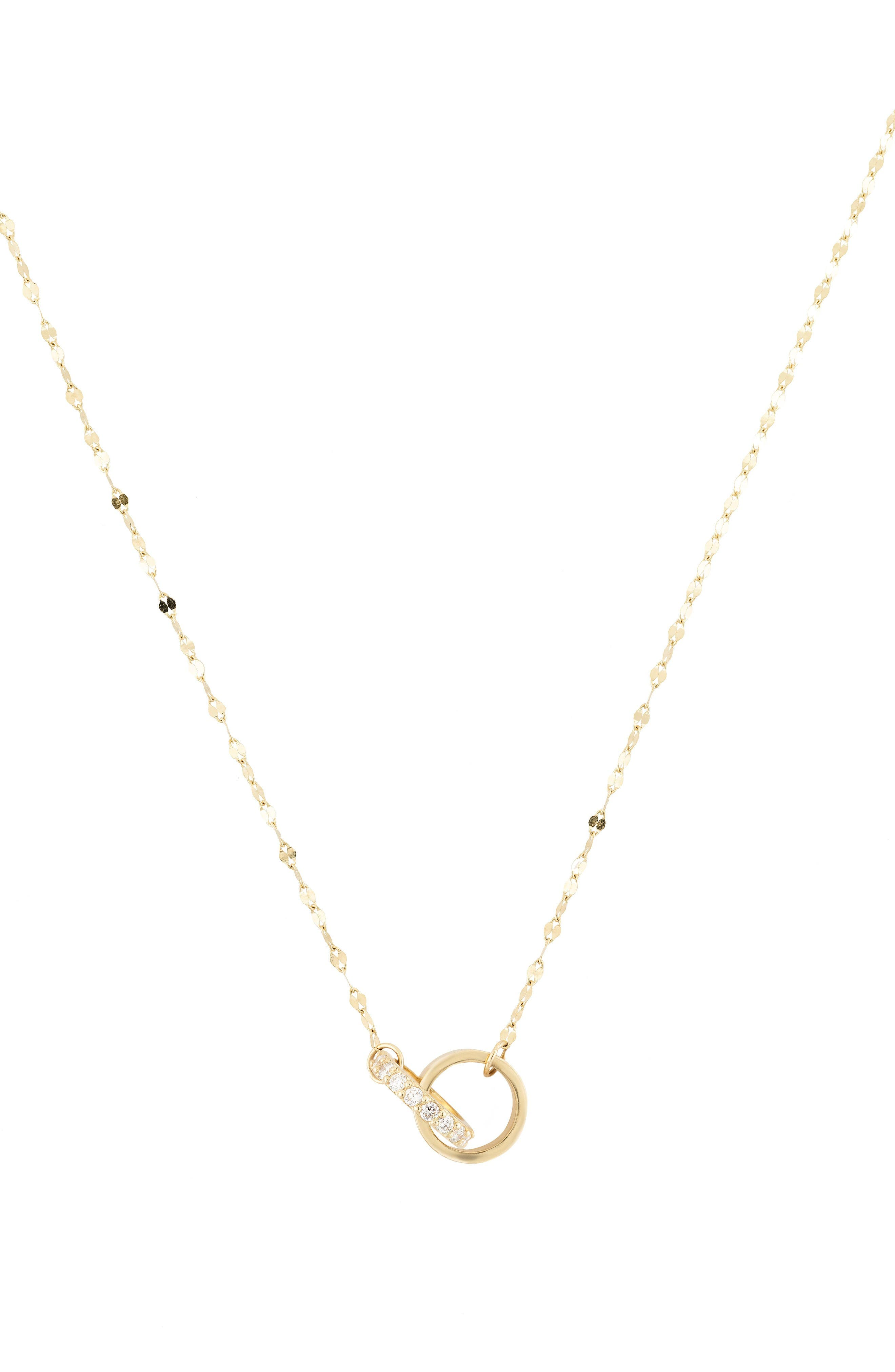LANA JEWELRY Flawless Diamond Link Pendant Necklace