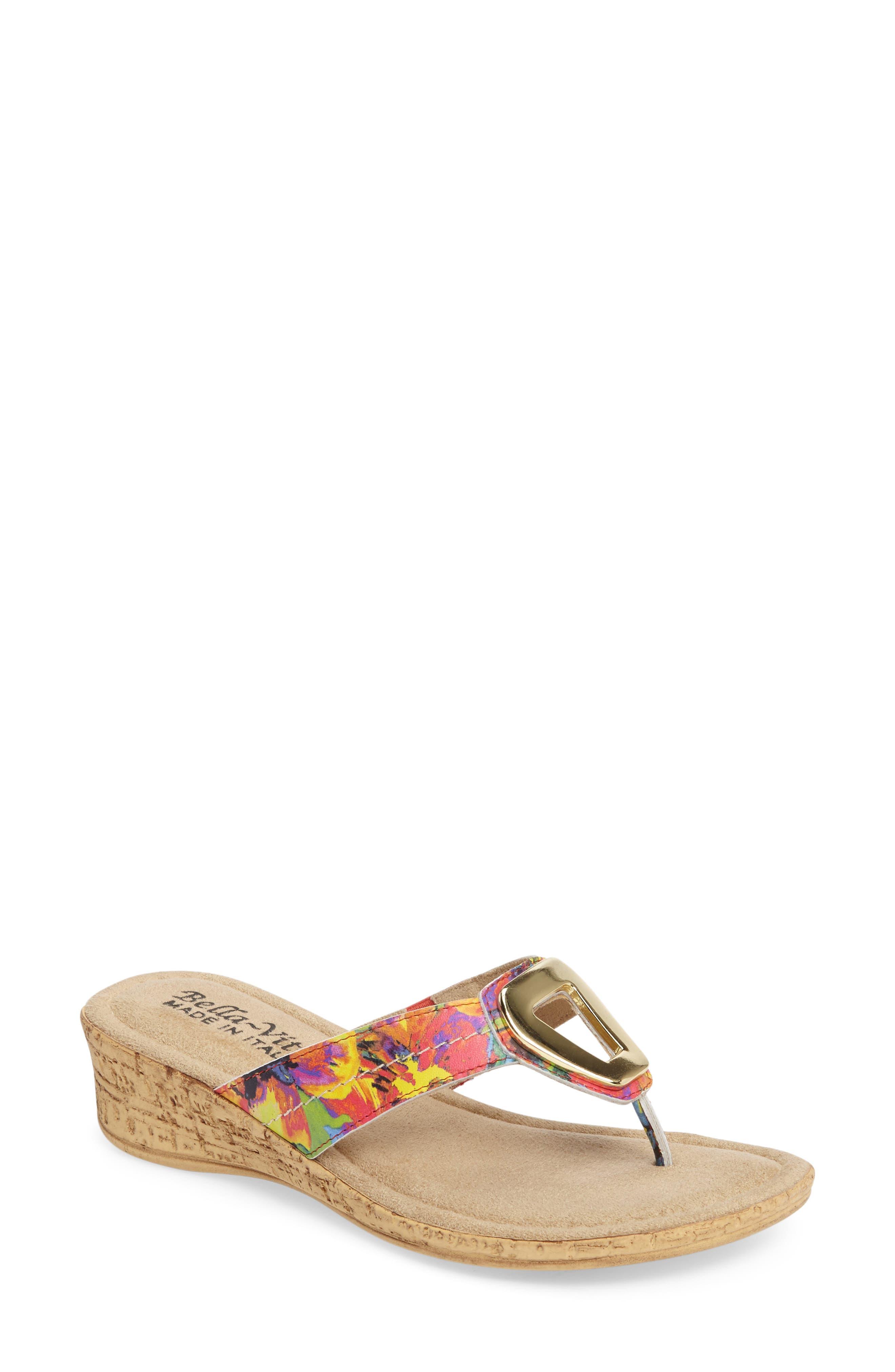 Lou Sandal,                             Main thumbnail 1, color,                             Floral Leather