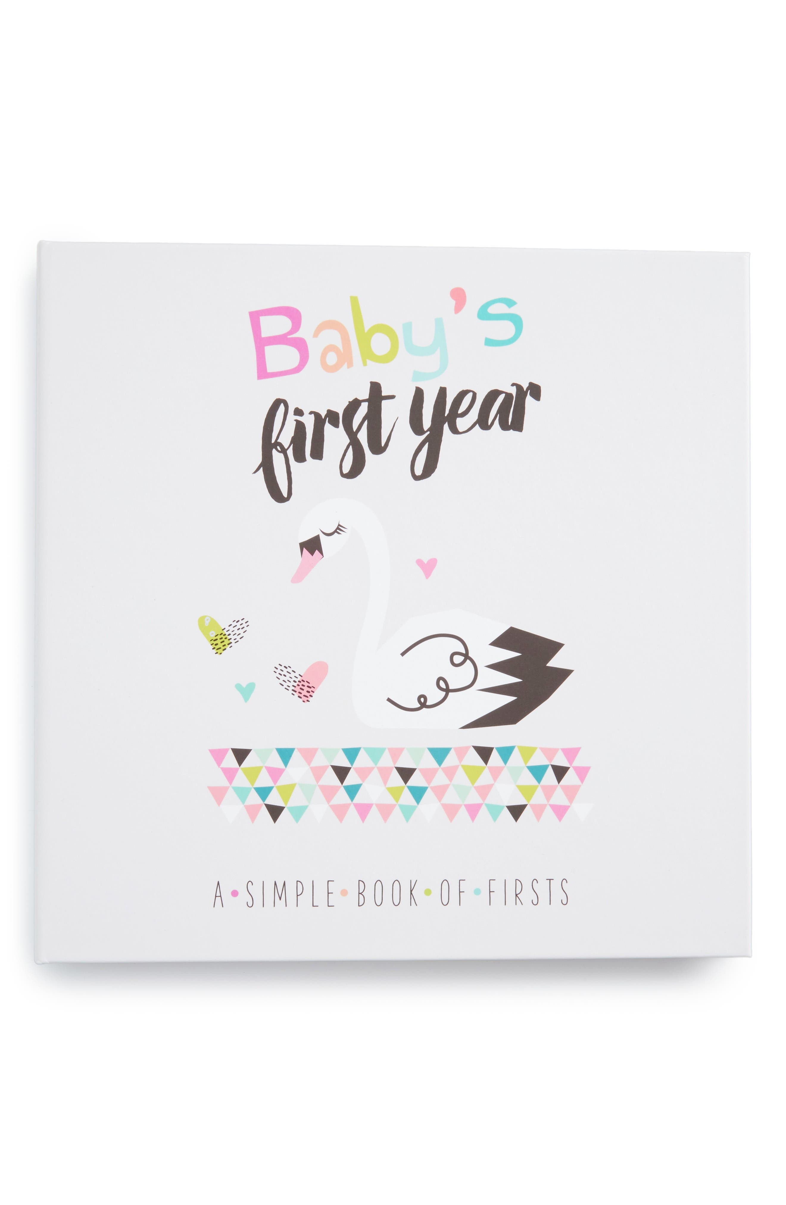 'Baby's First Year' Memory Book,                         Main,                         color, Pink
