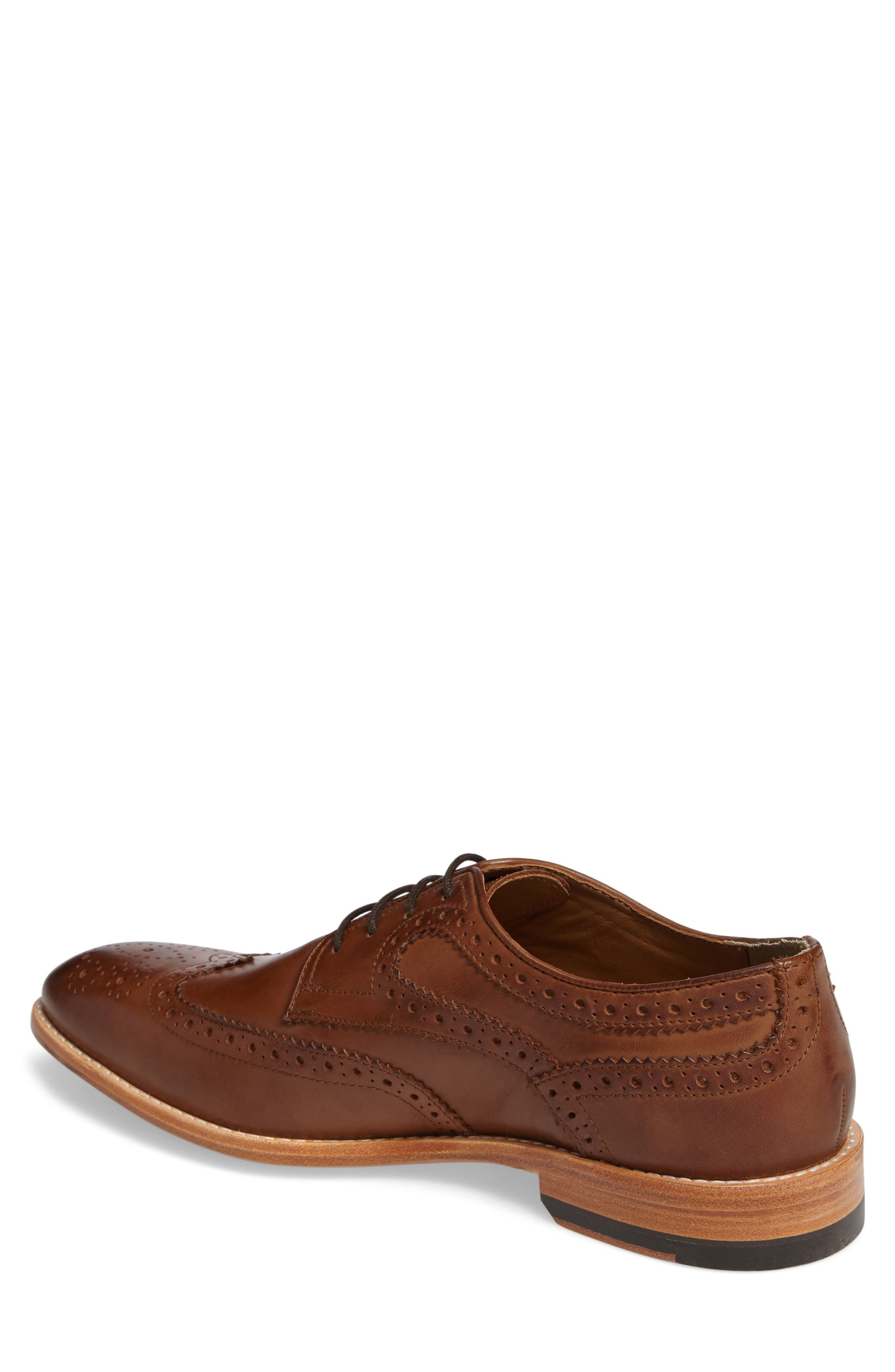 Vance Wingtip Oxford,                             Alternate thumbnail 2, color,                             Tan Leather