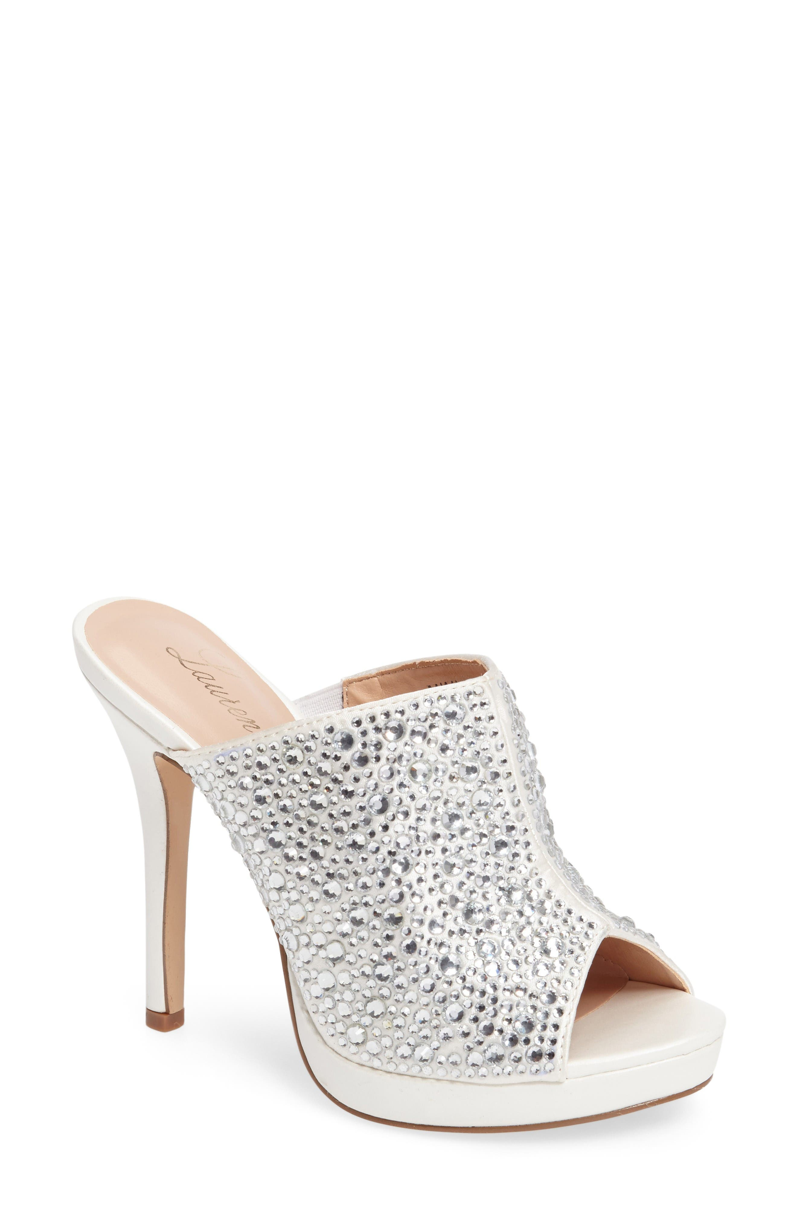 LAUREN LORRAINE Mimi Embellished Slide Sandal