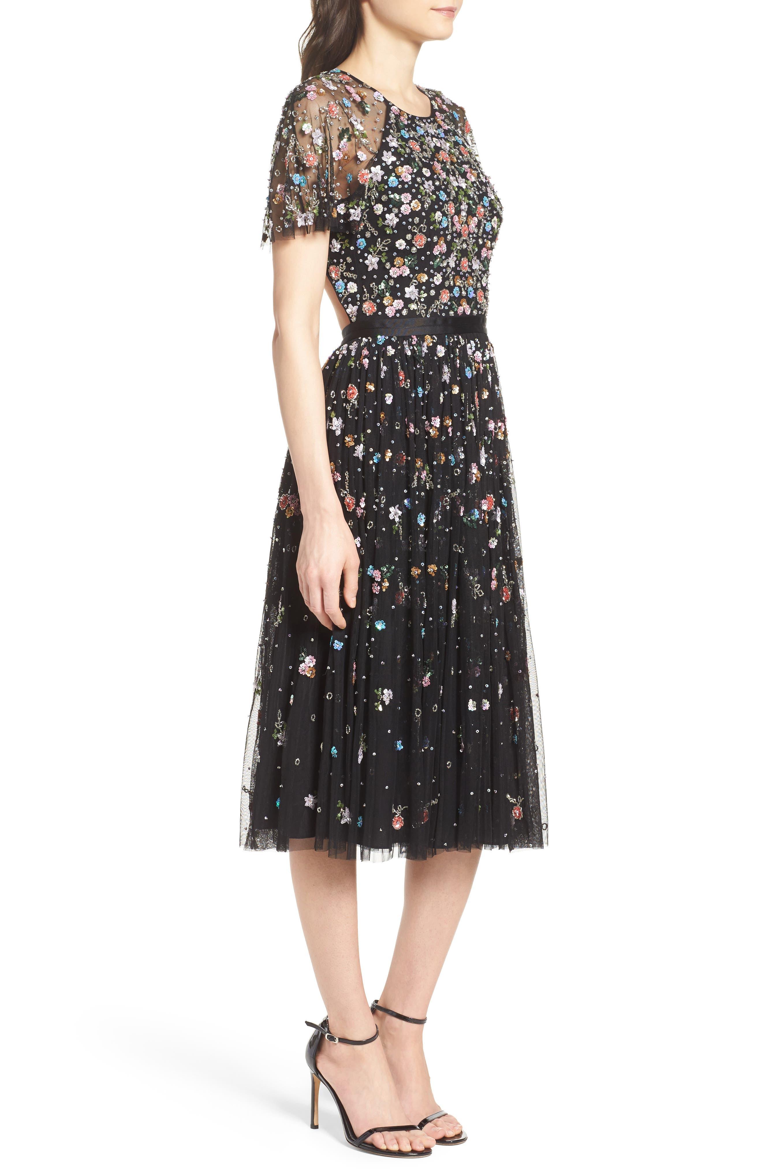 Alternate Image 3  - Needle & Thread Starburst Midi Dress