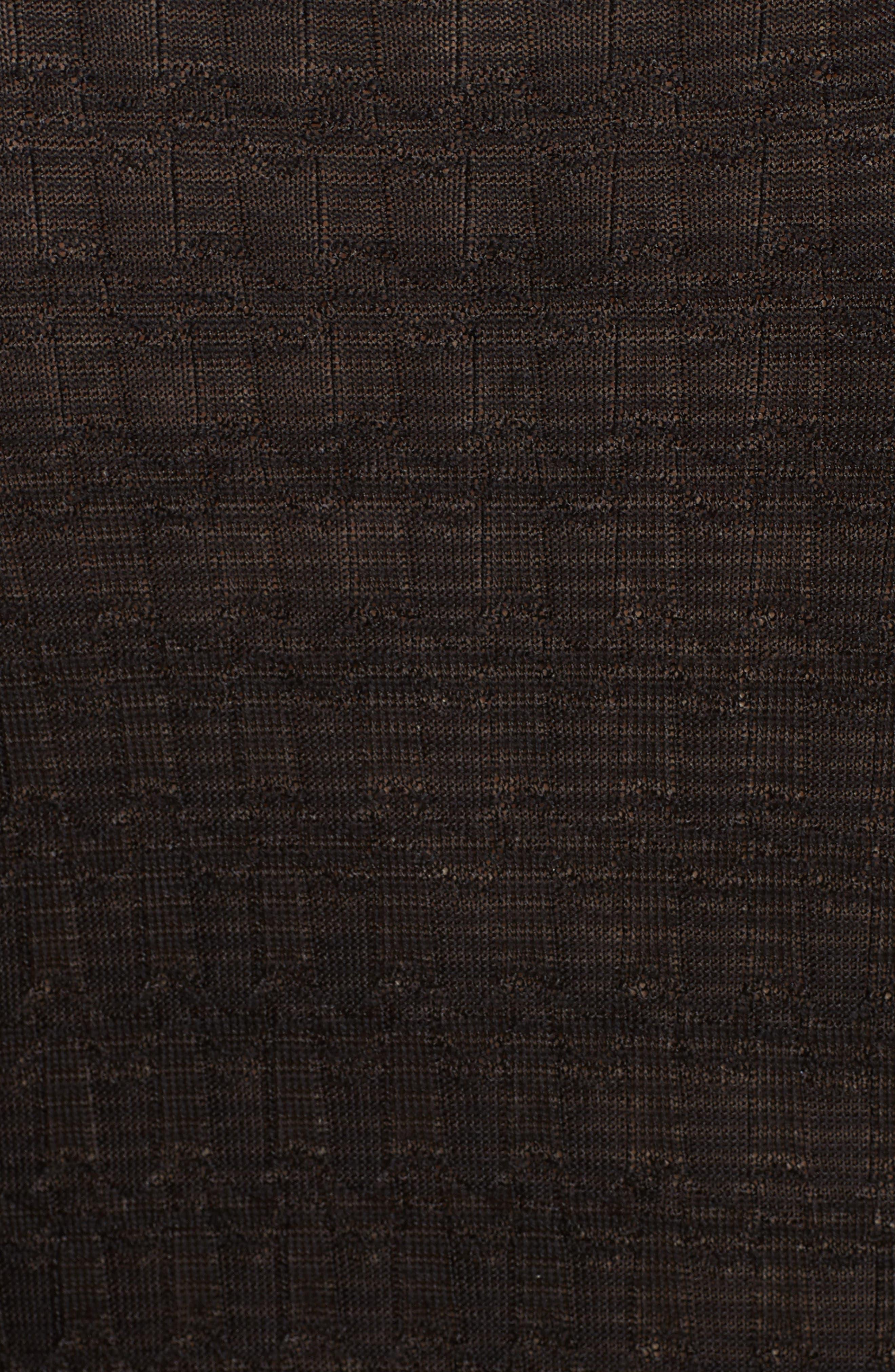 Wool Blend Empire Waist Dress,                             Alternate thumbnail 5, color,                             Black