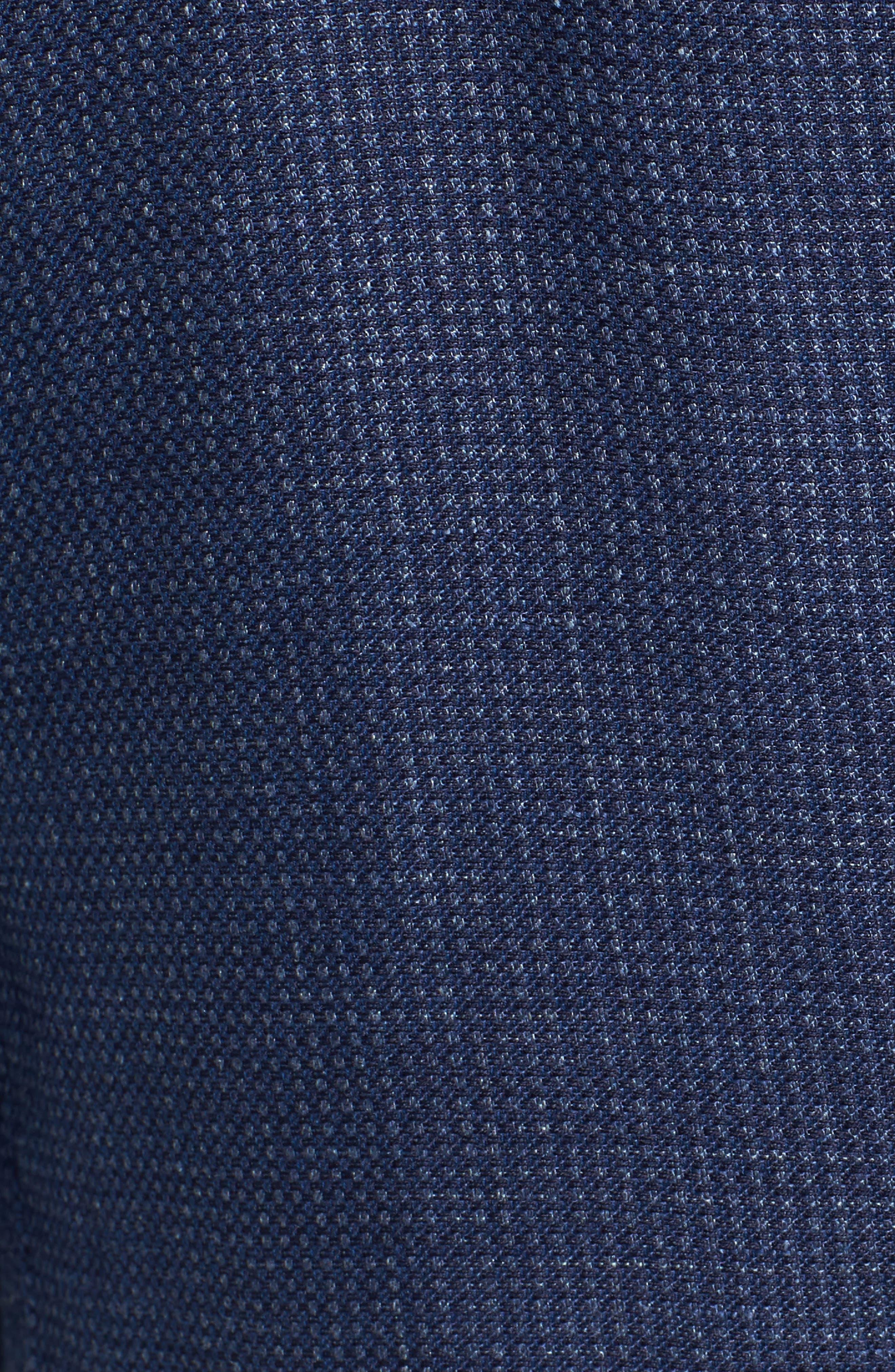 Trim Fit Bird's Eye Linen & Wool Sport Coat,                             Alternate thumbnail 5, color,                             Navy